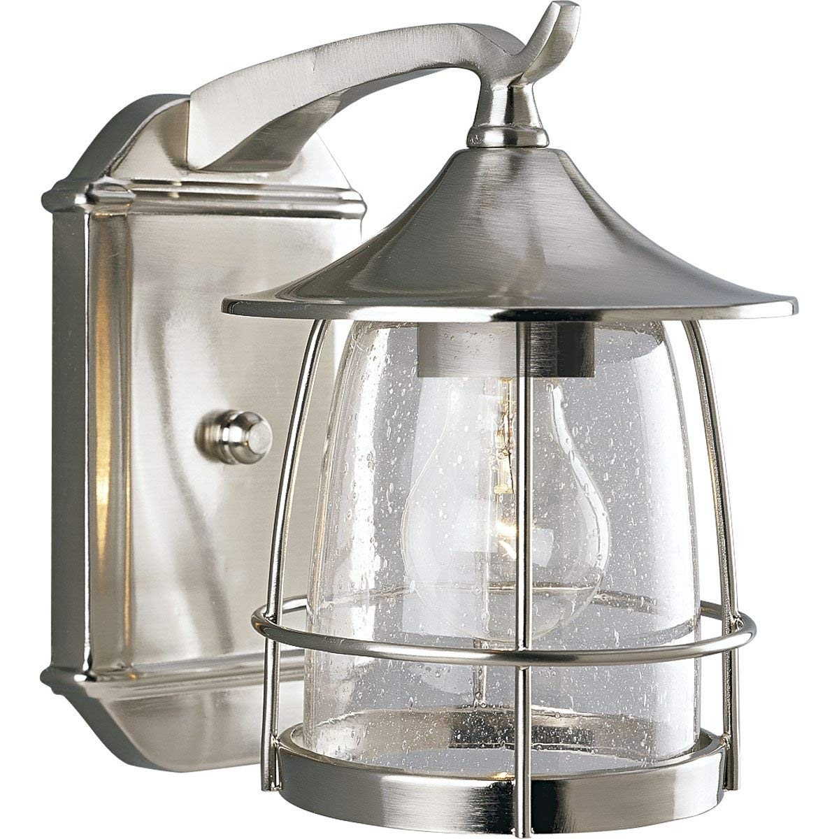 Progress Lighting P5763 09 1 Light Wall Lantern With Wire Frames And Within Nickel Outdoor Lanterns (Photo 4 of 20)