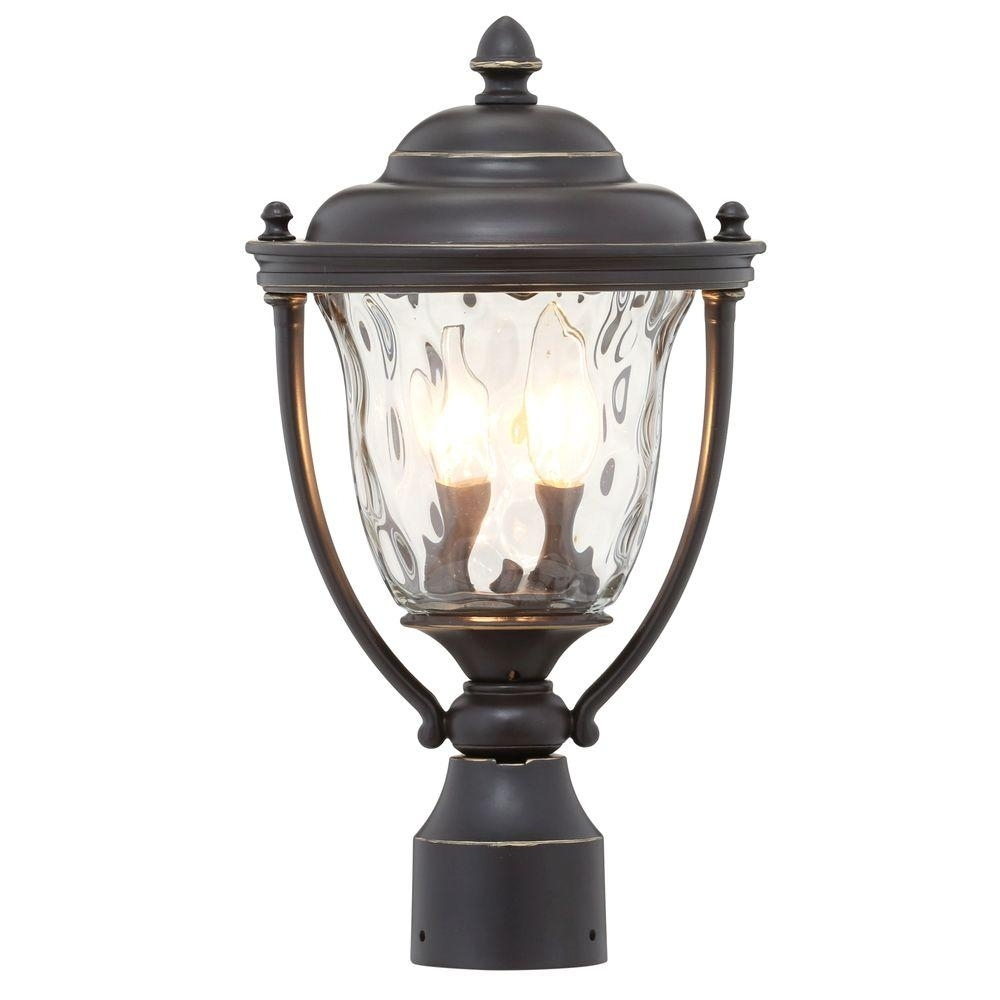 Progress Lighting Prestwick Collection 2-Light Oil-Rubbed Bronze inside Outdoor Pillar Lanterns (Image 15 of 20)