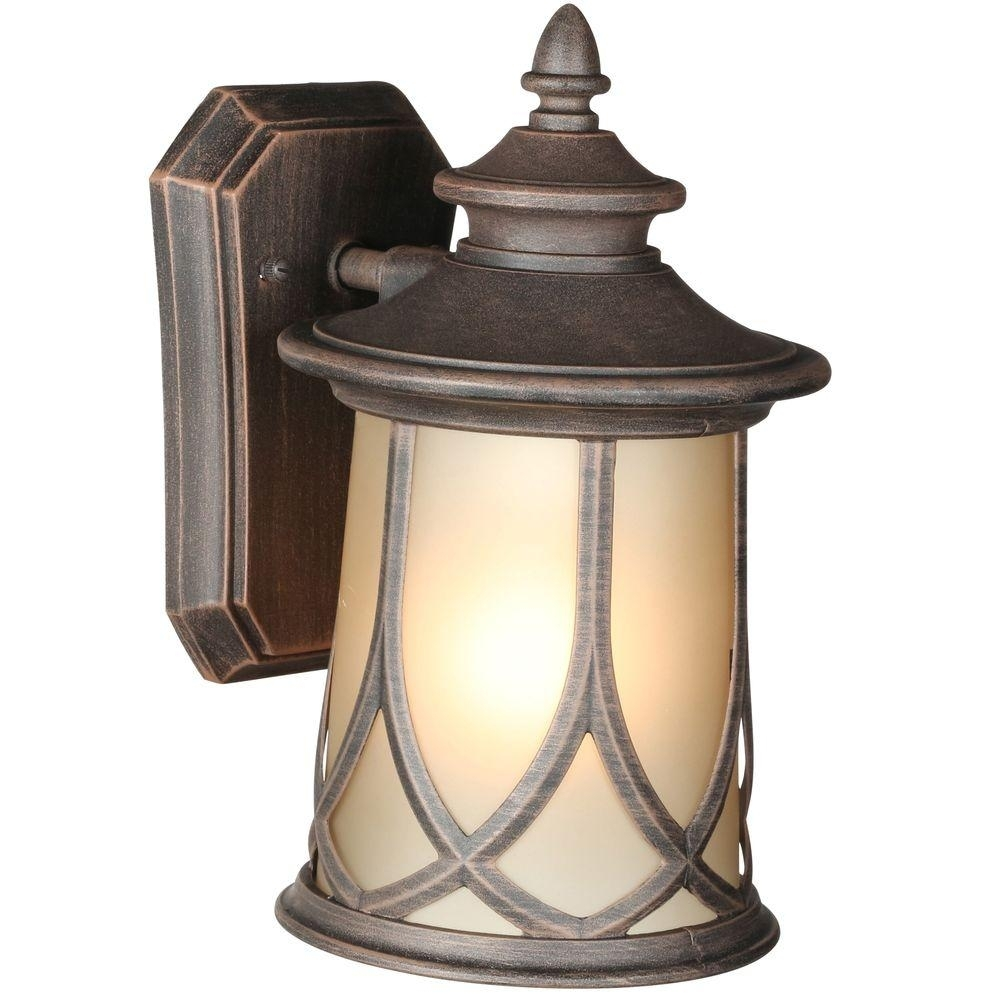Progress Lighting Resort Collection 1 Light 6.5 Inch Aged Copper For Outdoor Vinyl Lanterns (Photo 16 of 20)