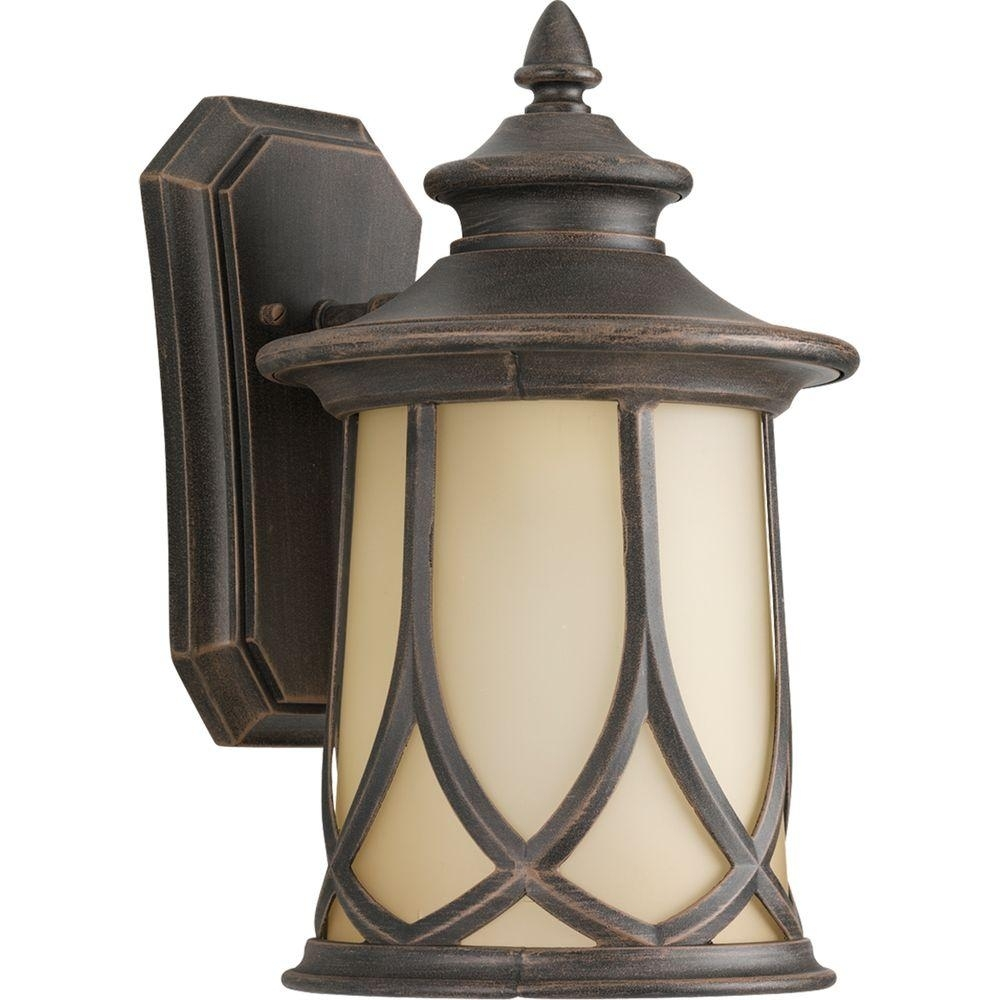 Progress Lighting Resort Collection 1-Light 8.5 Inch Aged Copper throughout Outdoor Lanterns Lights (Image 17 of 20)