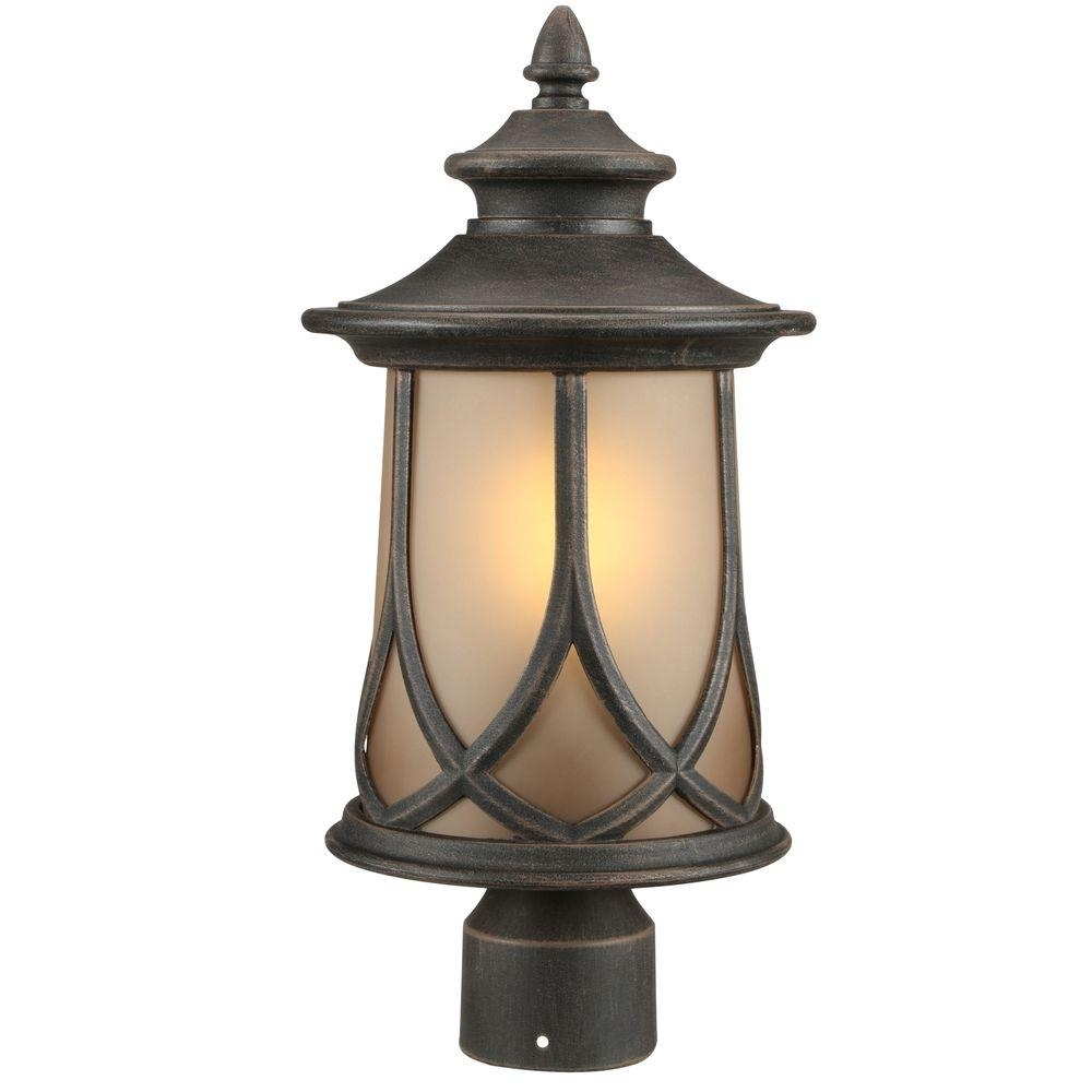Progress Lighting Resort Collection 1 Light Aged Copper Outdoor Post Intended For Copper Outdoor Electric Lanterns (Photo 7 of 20)