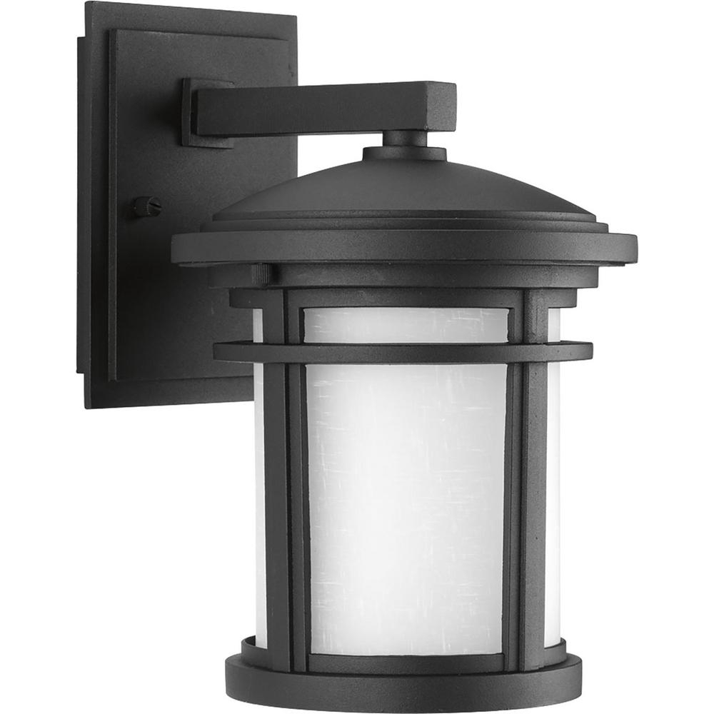Progress Lighting Wish Collection 1 Light Outdoor 7 Inch Textured Within Outdoor Vinyl Lanterns (Photo 9 of 20)