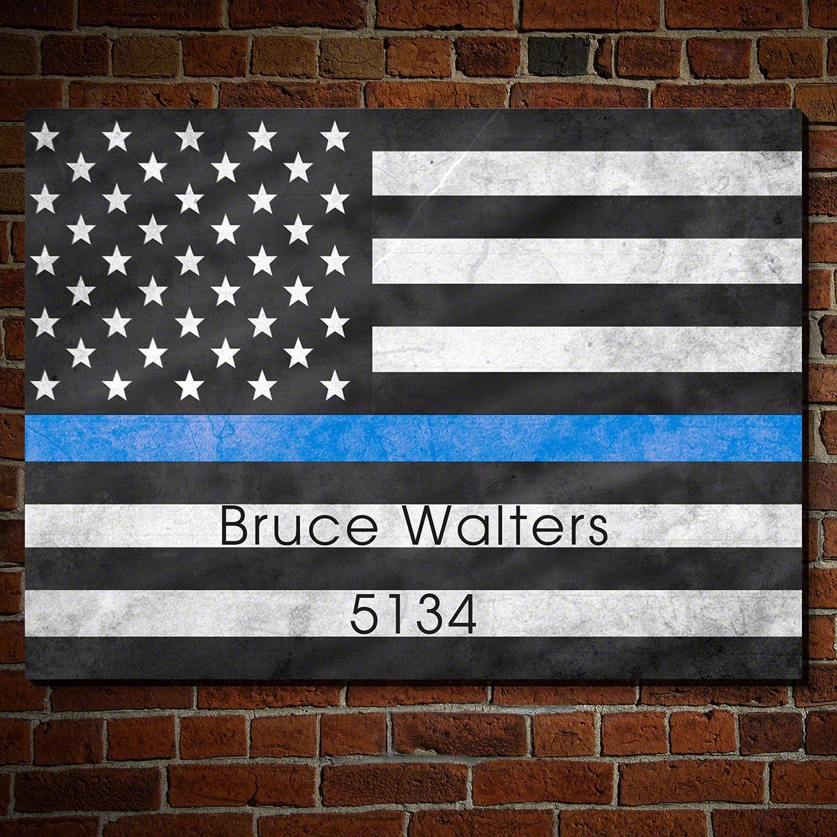 Proud To Serve American Flag Wall Art Gift For Police Officers with regard to American Flag Wall Art (Image 14 of 20)