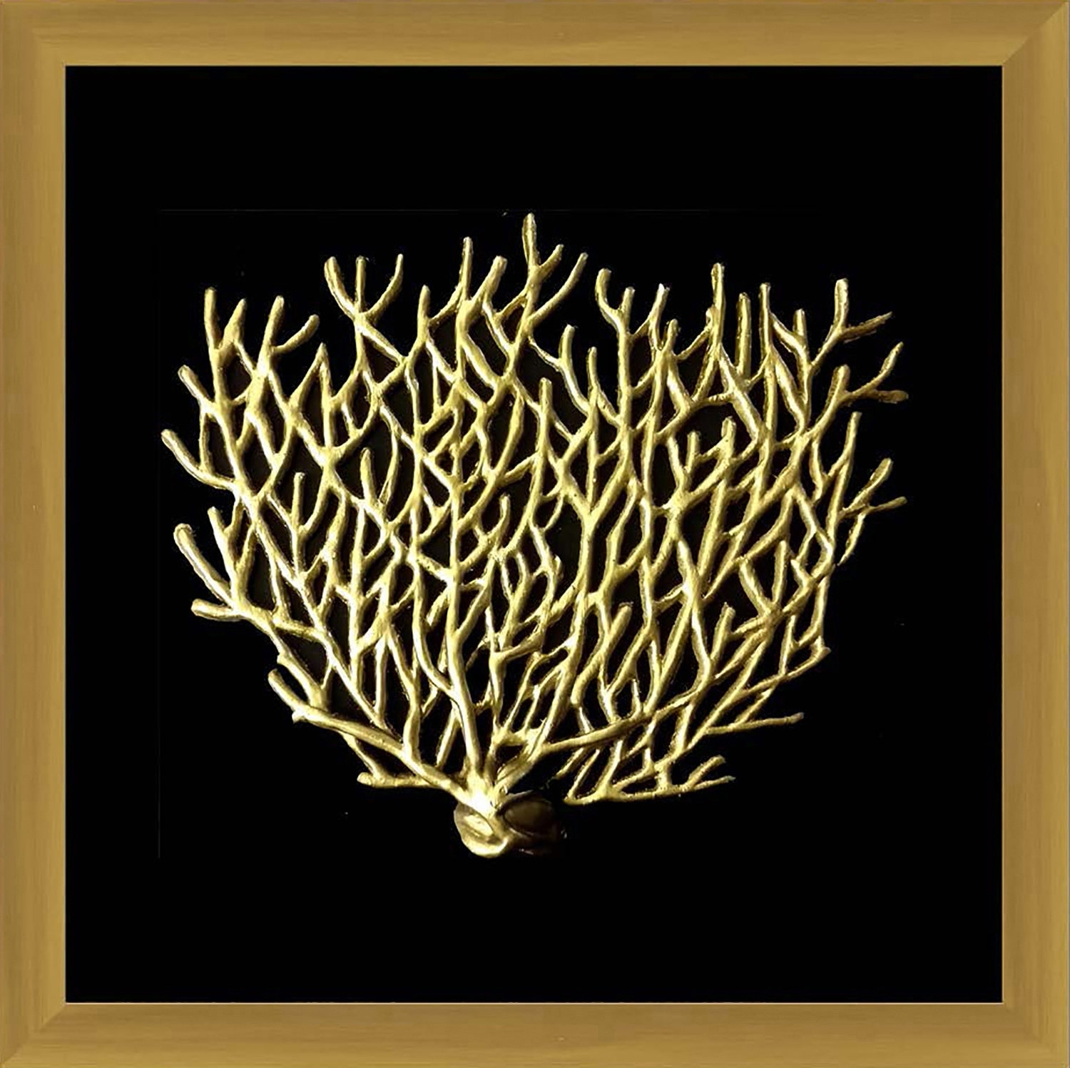 Ptm Gold Coral Framed Wall Art | Wayfair within Coral Wall Art (Image 11 of 20)
