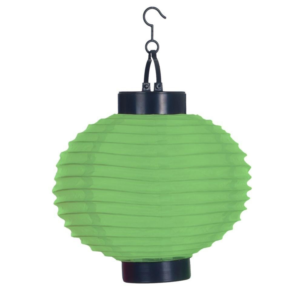 Pure Garden 4 Light Green Outdoor Led Solar Chinese Lantern 50 19 G Pertaining To Outdoor Hanging Japanese Lanterns (View 17 of 20)