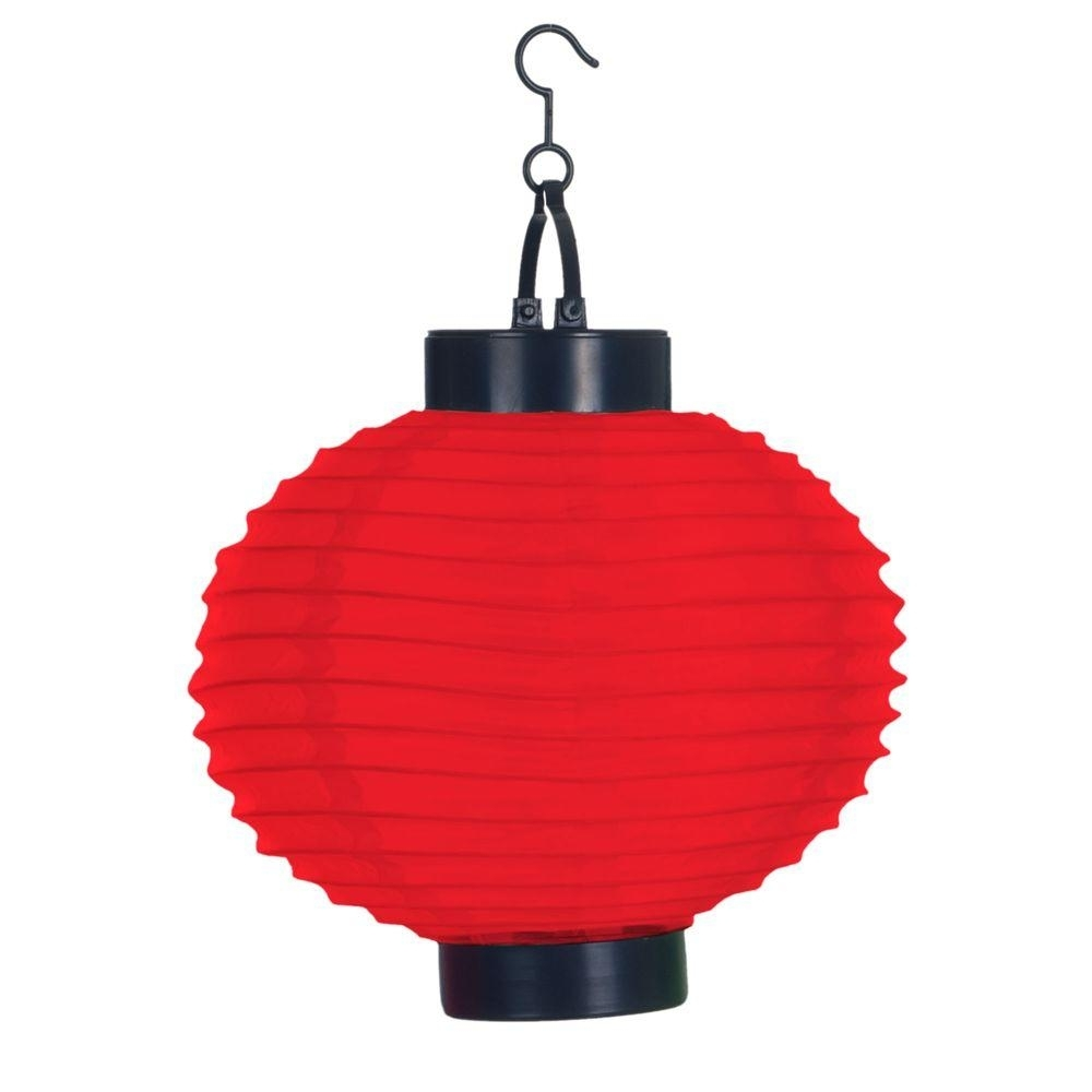 Pure Garden 4-Light Red Outdoor Led Solar Chinese Lantern-50-19-R in Outdoor Orange Lanterns (Image 16 of 20)