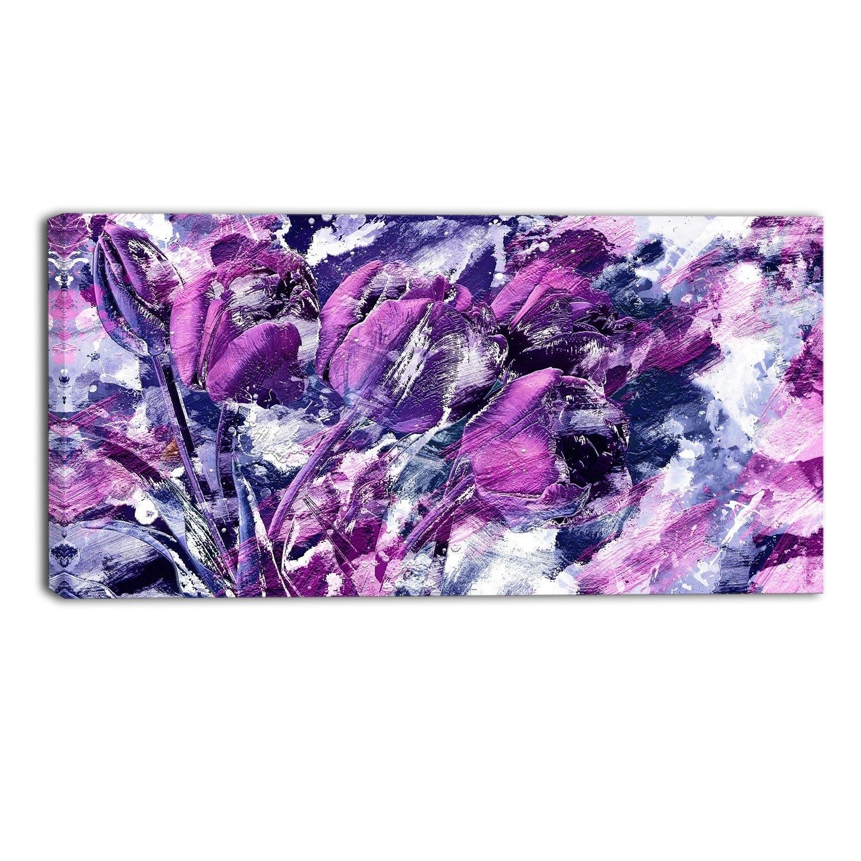Purple Bliss Floral Canvas Wall Art Print Jplt Fancy Purple Canvas In Purple Wall Art Canvas (Photo 4 of 20)