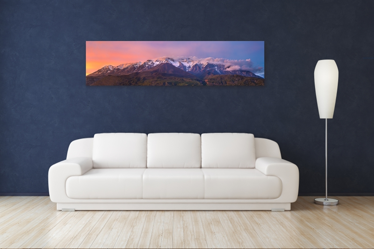 Purple Timpanogos Sunset – Rogue Aurora Photography Regarding Panoramic Wall Art (View 3 of 20)