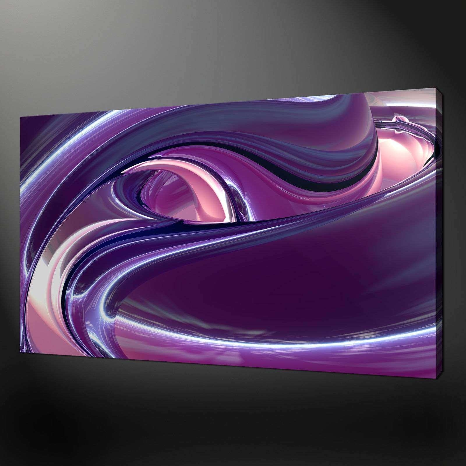 Purple Wall Art New Canvas Print Pictures High Quality Handmade Free Throughout Purple Wall Art Canvas (Photo 11 of 20)