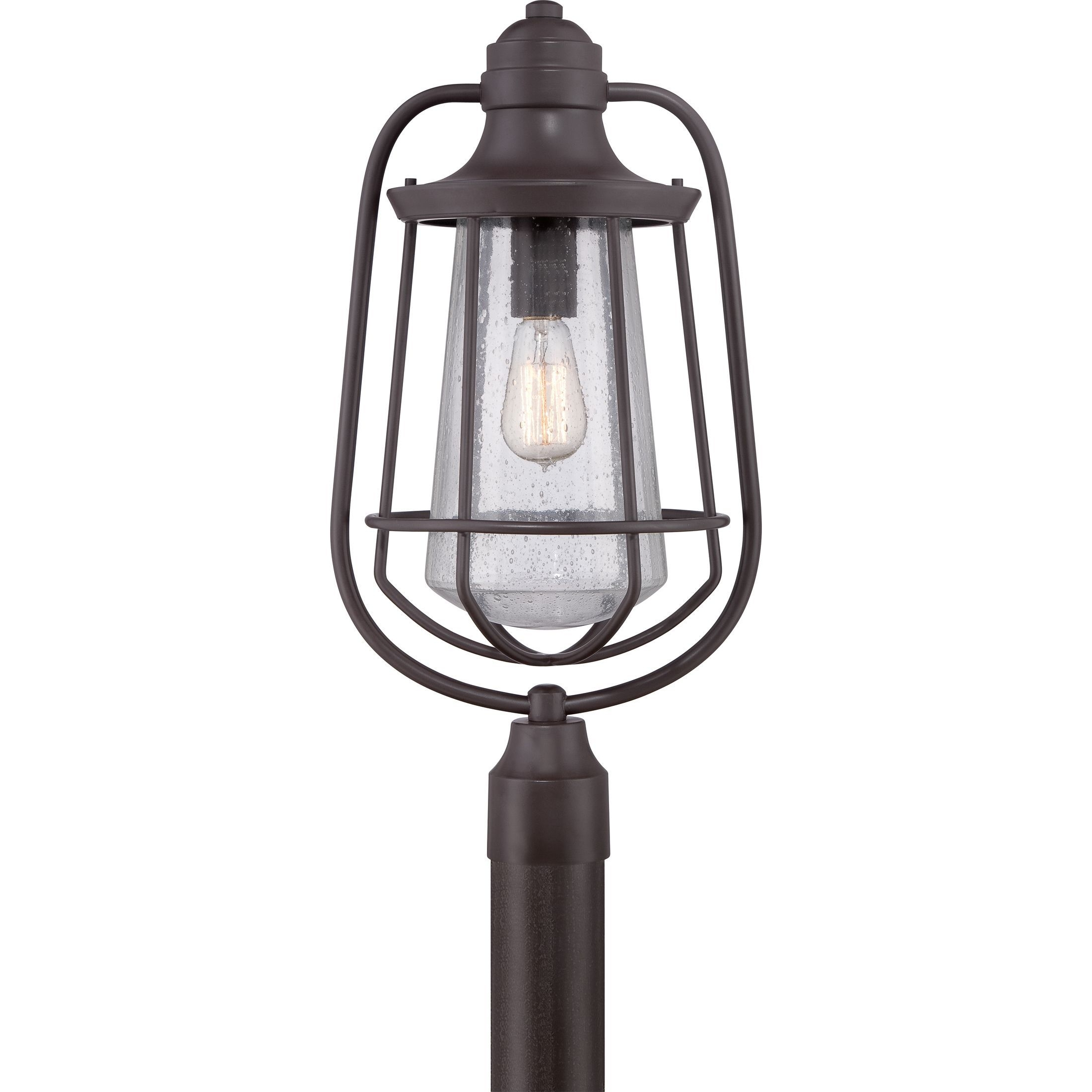 Quoizel 1-Light Marine Western Bronze Large Post Lantern (Western throughout Outdoor Lanterns on Post (Image 19 of 20)