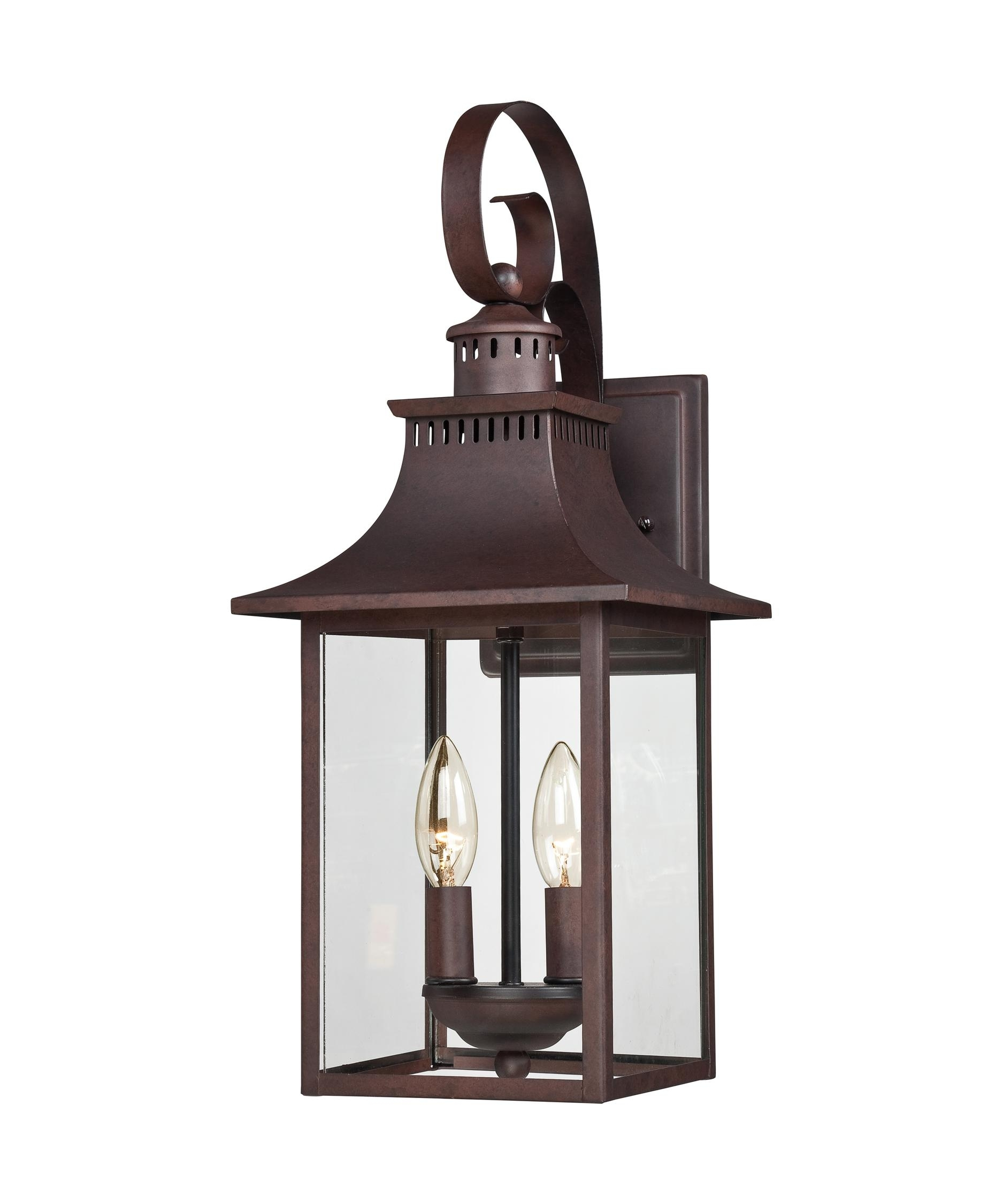 Quoizel Ccr8408 Chancellor 8 Inch Wide 2 Light Outdoor Wall Light with Industrial Outdoor Lanterns (Image 15 of 20)