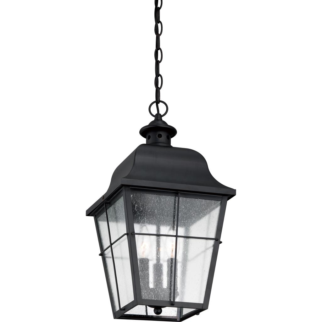 Quoizel Mhe1910K 3-Light Millhouse Outdoor Lantern In Mystic Black pertaining to Quoizel Outdoor Lanterns (Image 6 of 20)