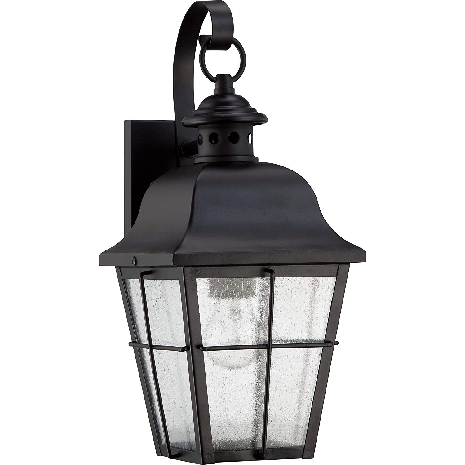 Quoizel Mhe8406K Millhouse 1-Light Outdoor Lantern, Mystic Black intended for Jumbo Outdoor Lanterns (Image 15 of 20)