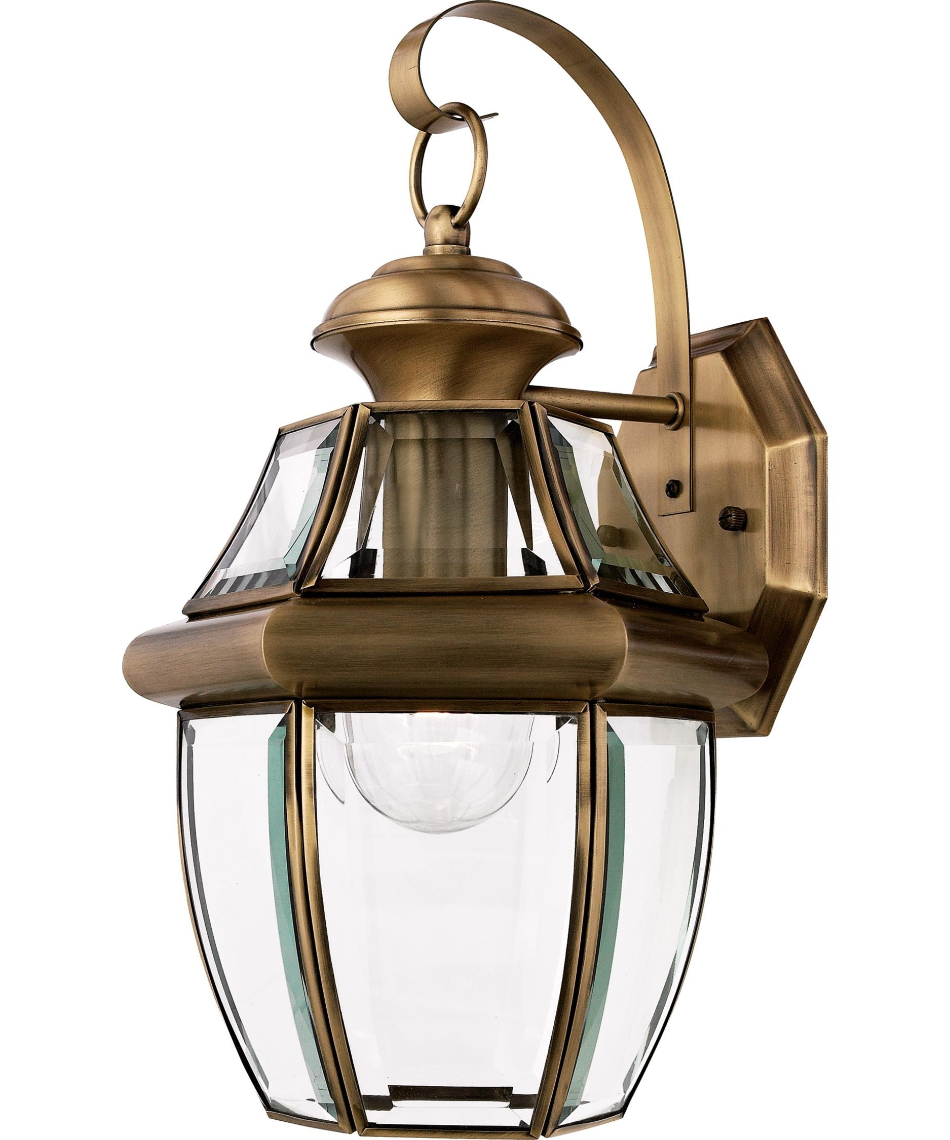 Quoizel Ny8316 Newbury 9 Inch Wide 1 Light Outdoor Wall Light with Quoizel Outdoor Lanterns (Image 7 of 20)