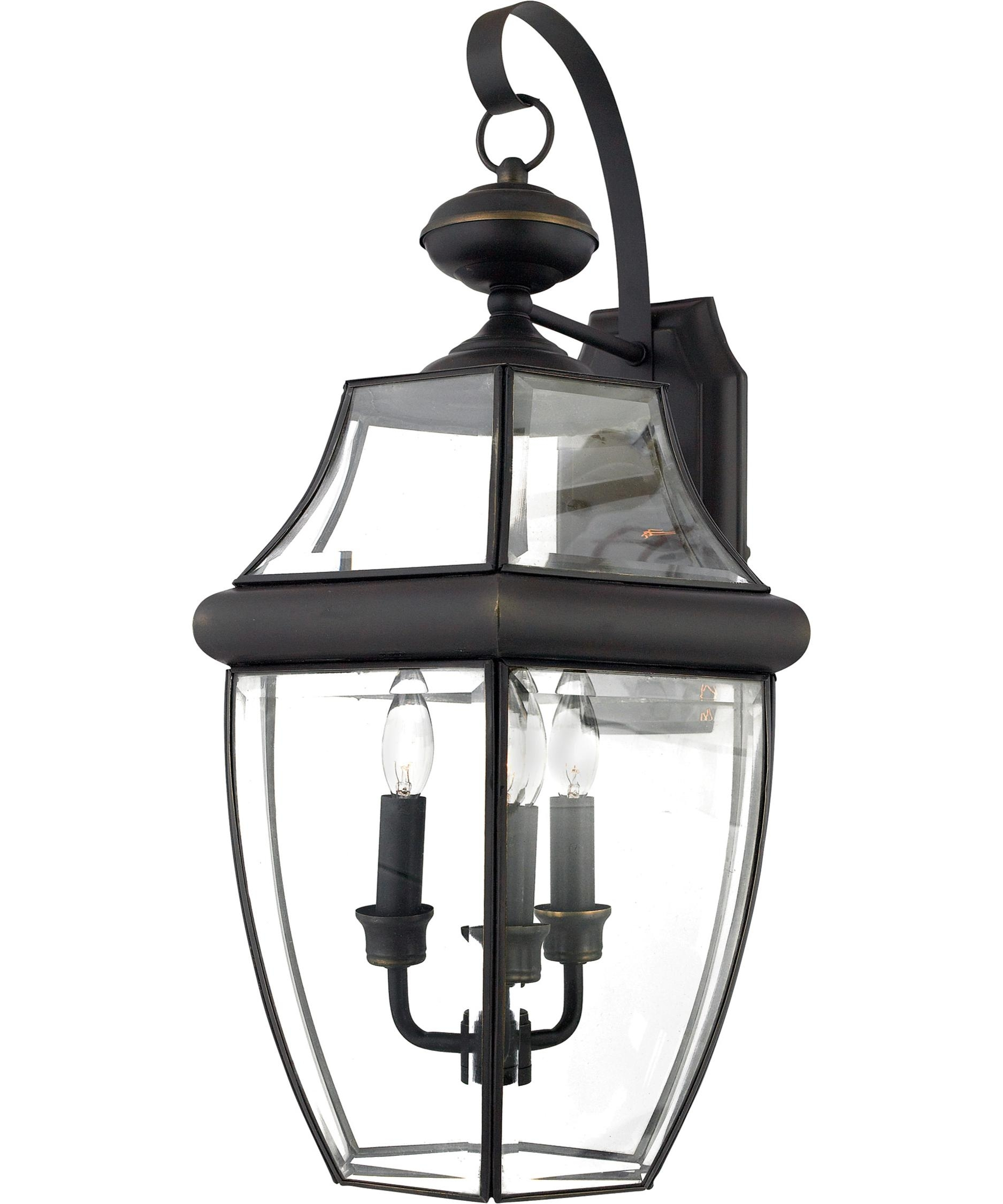 Quoizel Ny8318 Newbury 13 Inch Wide 3 Light Outdoor Wall Light pertaining to Quoizel Outdoor Lanterns (Image 8 of 20)