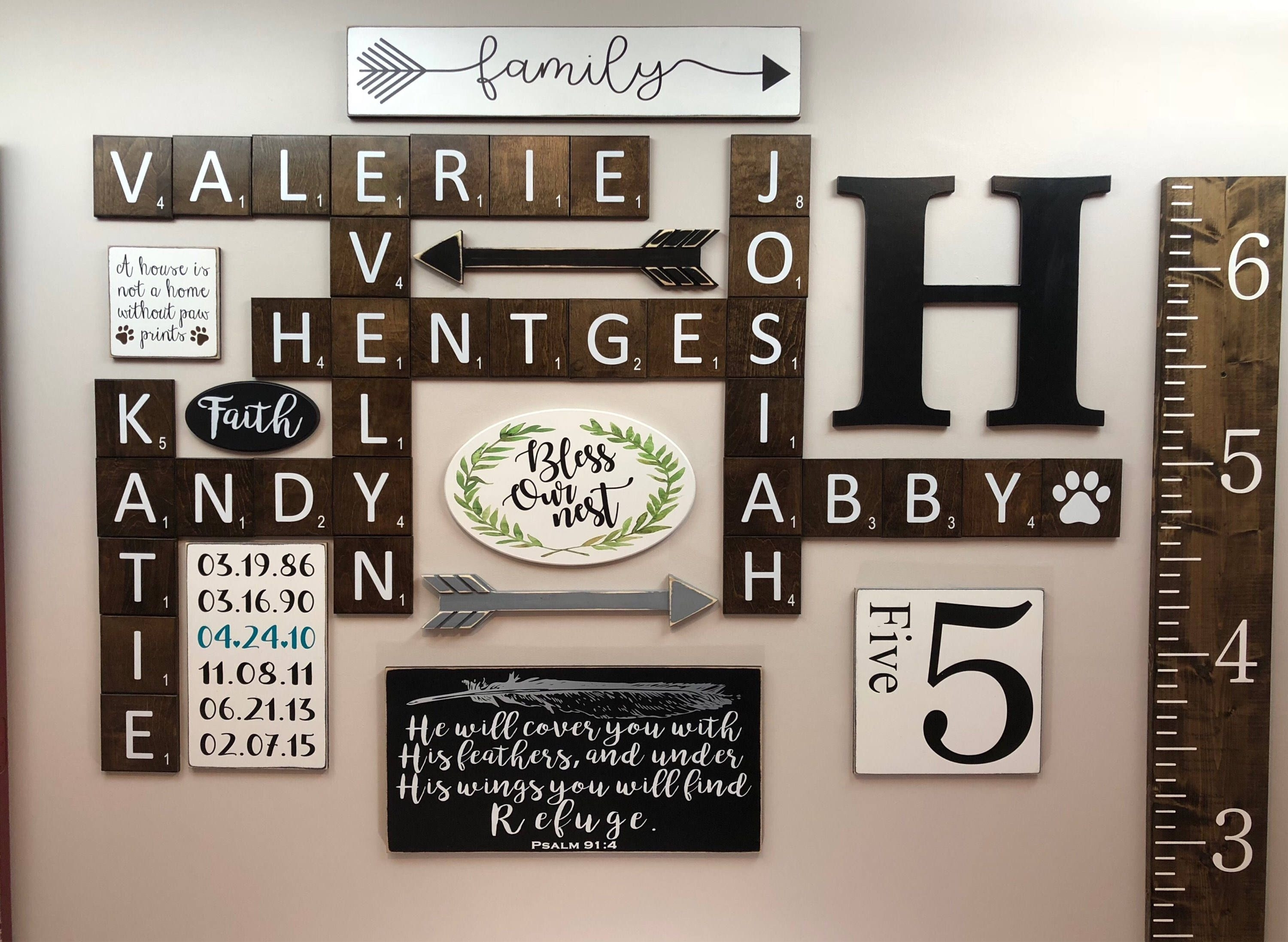 Quot Scrabble Tiles Scrabble Wall Art Gallery Wall Decor Scheme Of For Scrabble Wall Art (View 15 of 20)