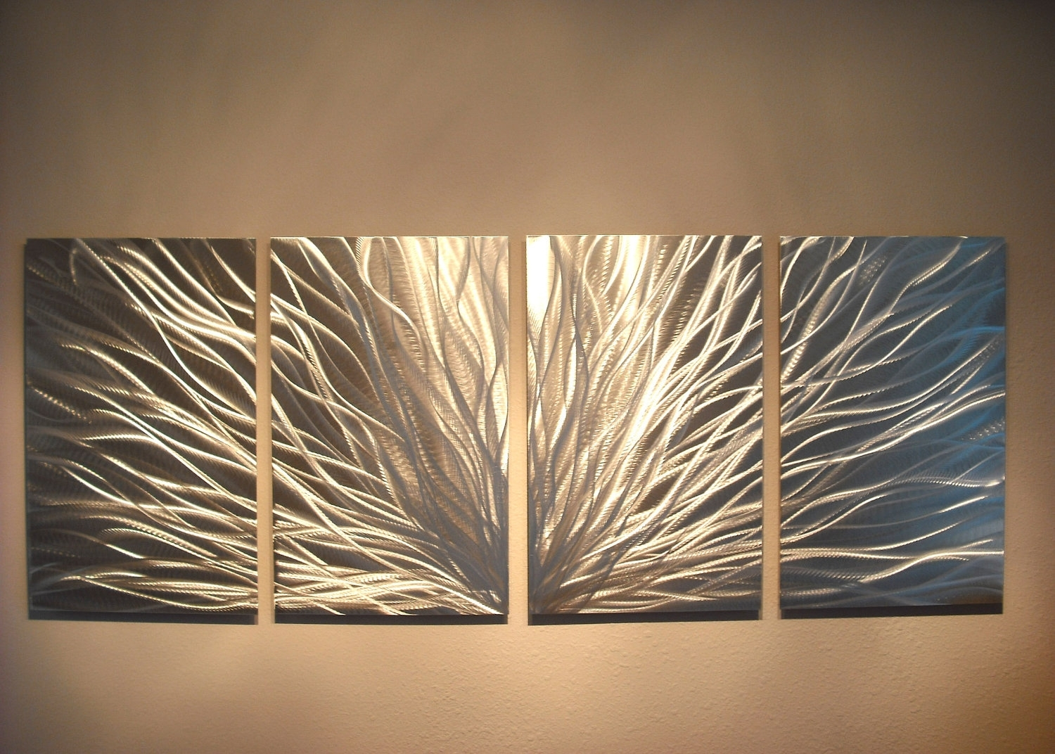 Radiance - Abstract Metal Wall Art Contemporary Modern Decor inside Metal Wall Art (Image 16 of 20)