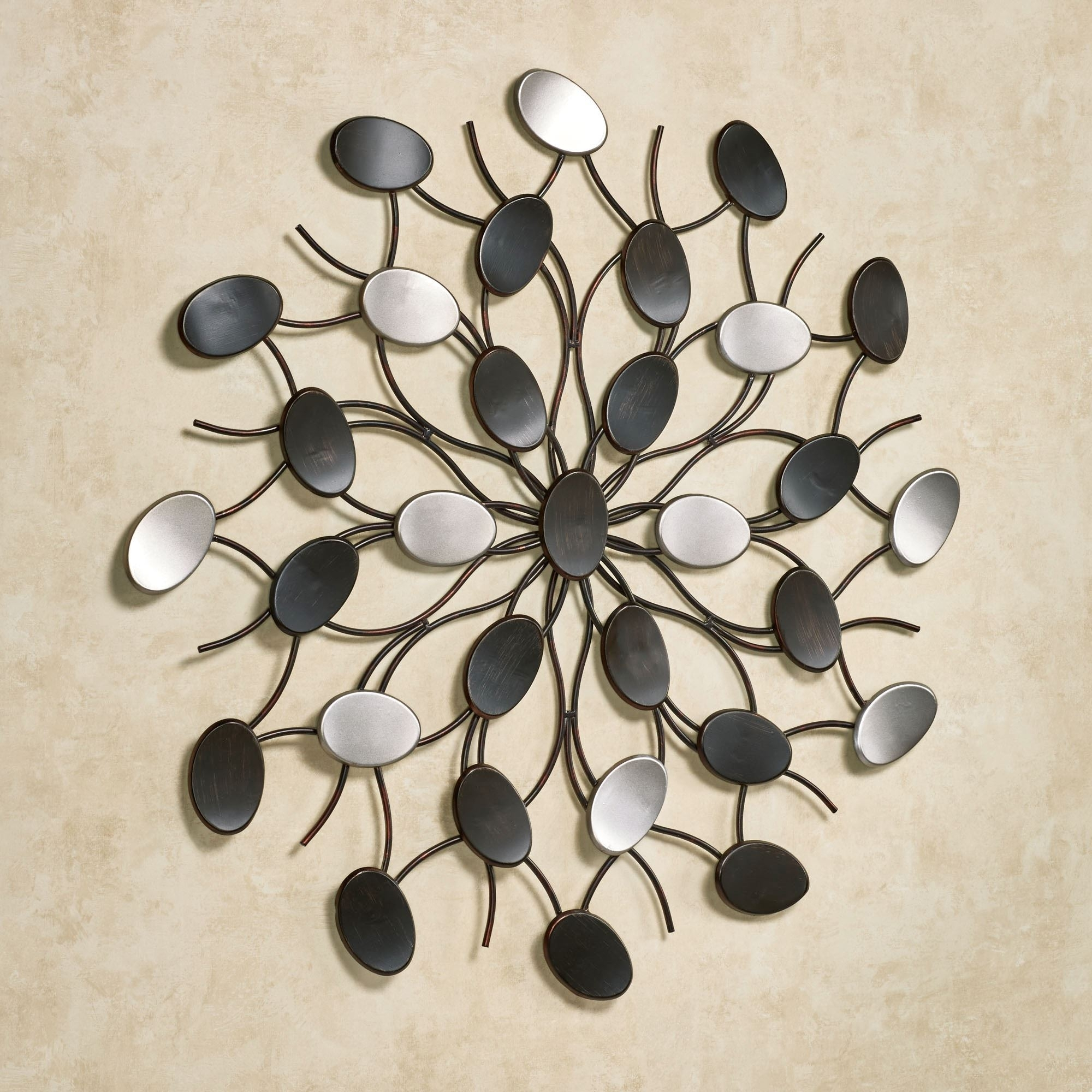 Radiant Petals Abstract Metal Wall Art with regard to Metal Wall Art (Image 17 of 20)