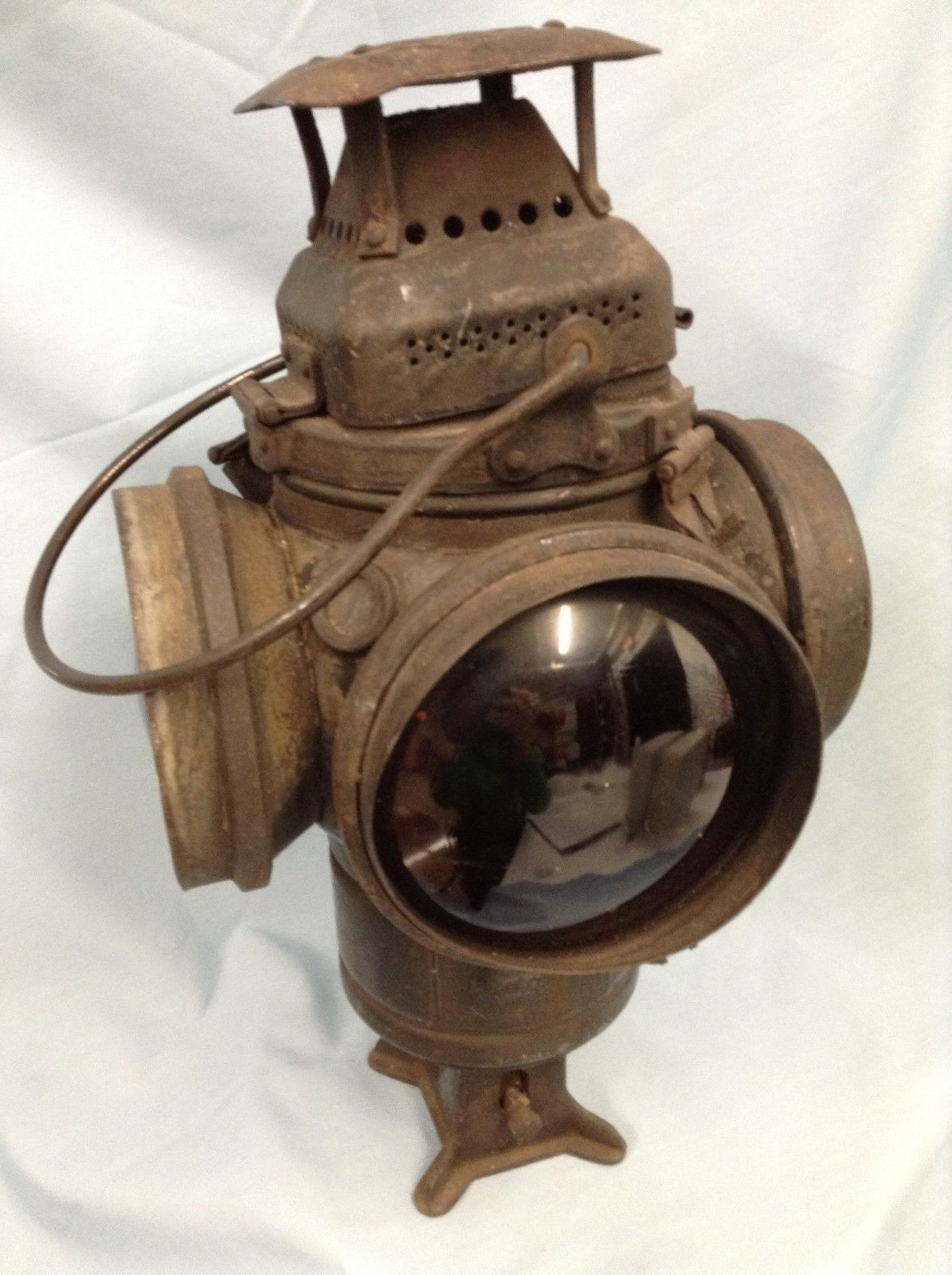 Railroad Lantern Adlake Non Sweating Lamp Chicago | Ebay | Railroad Intended For Outdoor Railroad Lanterns (View 16 of 20)