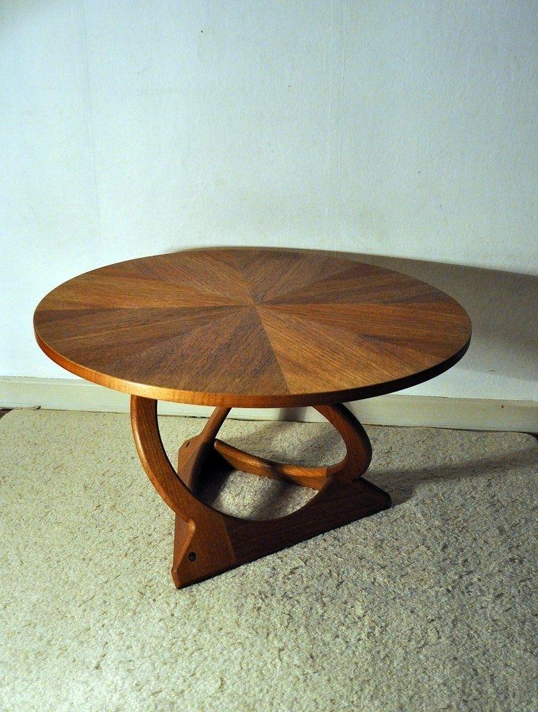 Rare Kubus Round Teak Coffee Table(Holger) Georg Jensen in Round Teak Coffee Tables (Image 16 of 30)