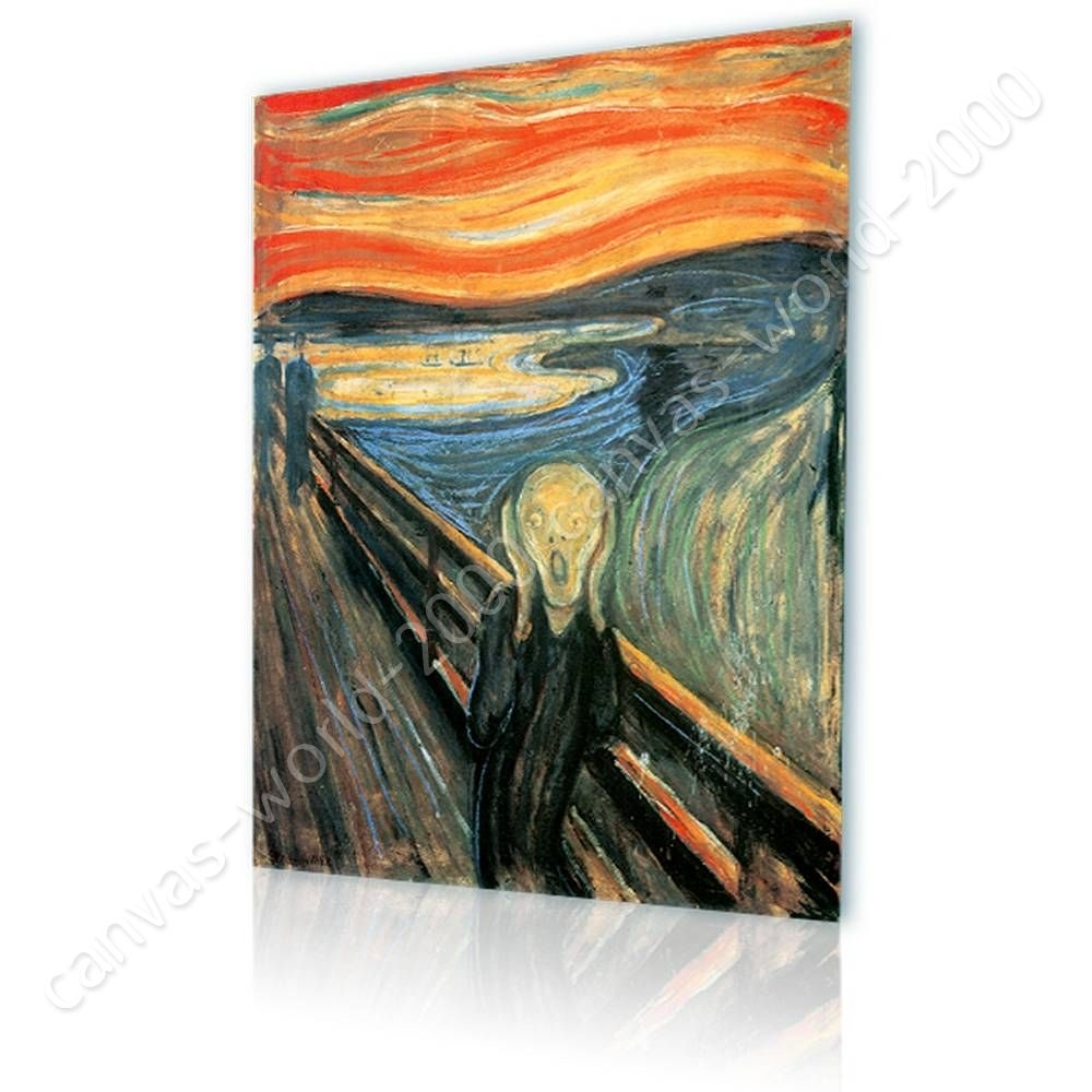 Ready To Hang Canvas The Scream Edvard Munch Framed Wall Decor For pertaining to Framed Wall Art for Living Room (Image 16 of 20)
