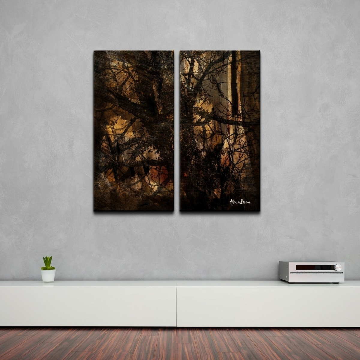 Ready2Hangart 'tree Study' Oversized Abstract Canvas Wall Art (2 intended for Abstract Oversized Canvas Wall Art (Image 18 of 20)