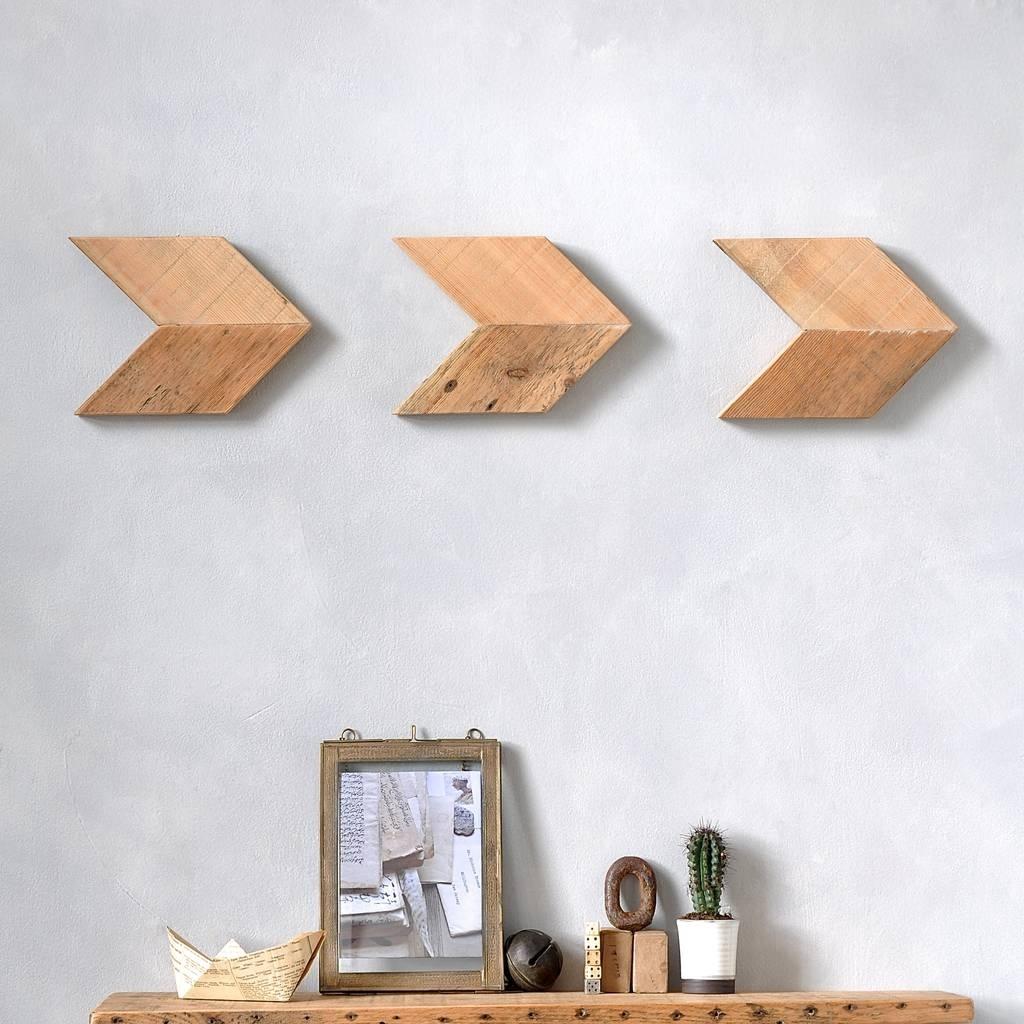 Reclaimed Wood Arrow Wall Art Setmöa Design | Notonthehighstreet intended for Arrow Wall Art (Image 15 of 20)