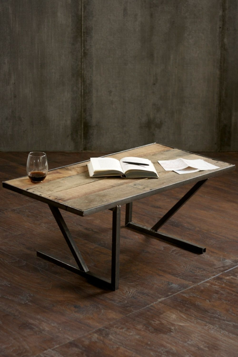 Reclaimed Wood Coffee Made From #reclaimed #rustic Pallet Wood And with regard to Mill Large Coffee Tables (Image 22 of 30)