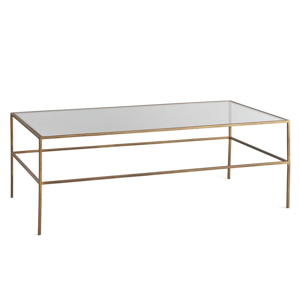 Featured Photo of Rectangular Brass Finish And Glass Coffee Tables