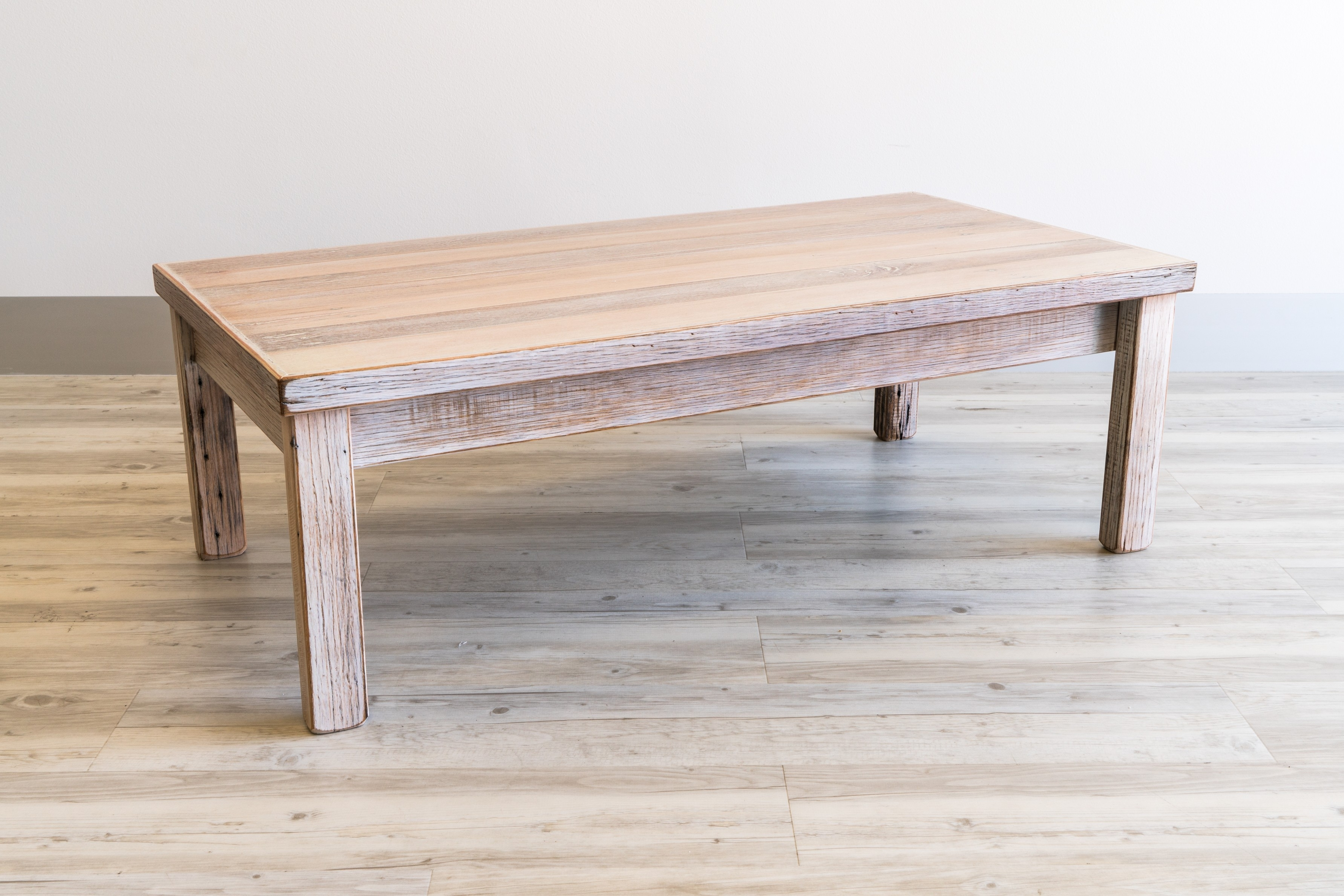 Recycled Fence Paling Coffee Table - Limewash | Beck Urban Furniture for Limewash Coffee Tables (Image 26 of 30)