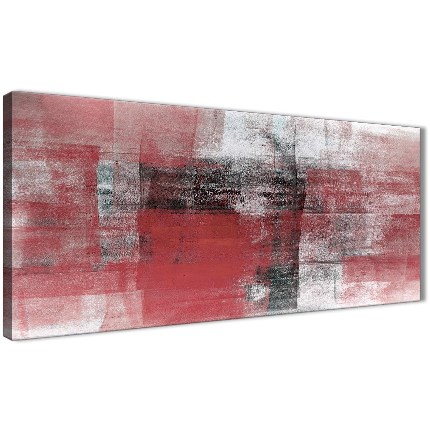 Red Black White Painting Living Room Canvas Wall Art Accessories regarding Red Canvas Wall Art (Image 14 of 20)