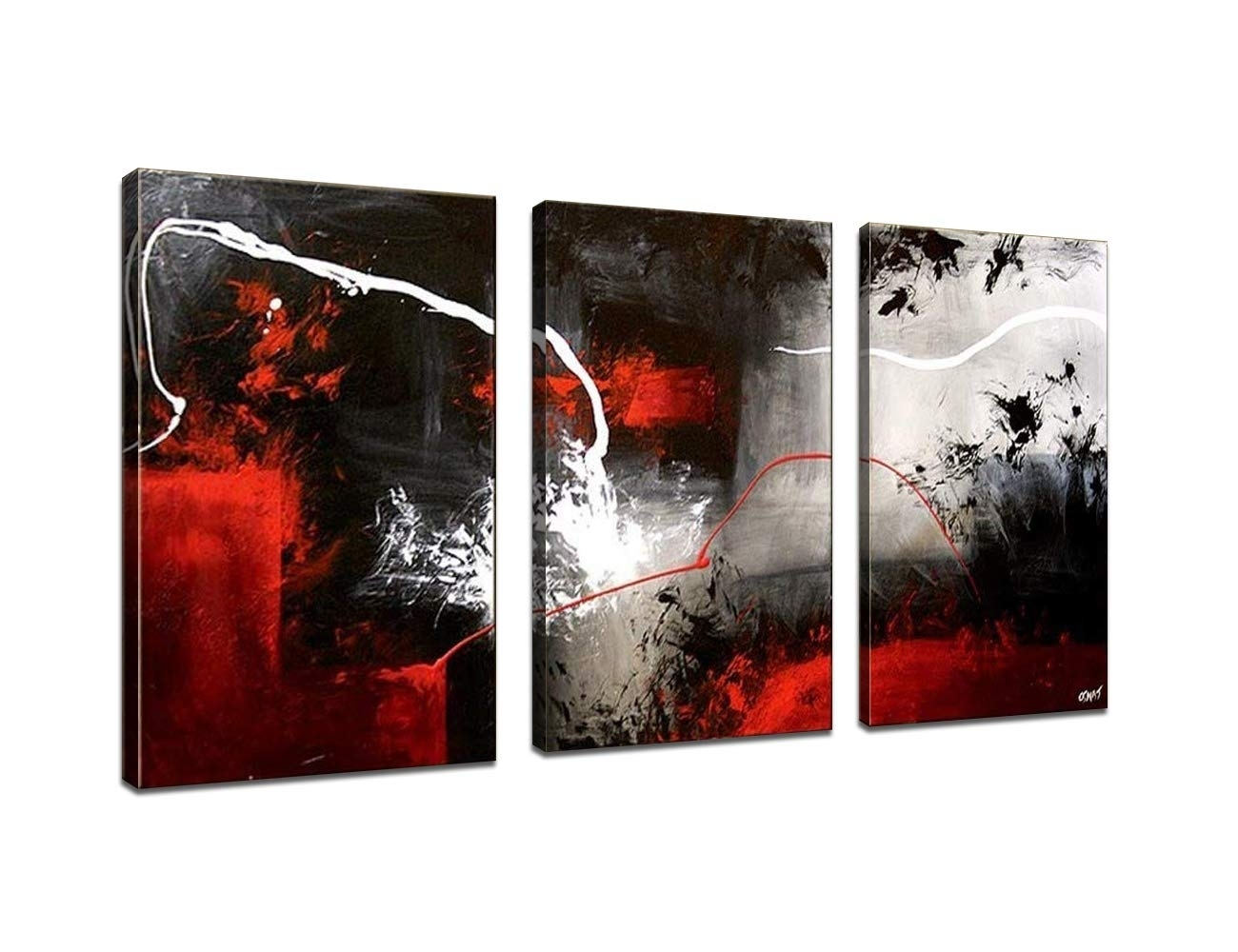 Red Canvas Art: Amazon for Red Canvas Wall Art (Image 15 of 20)