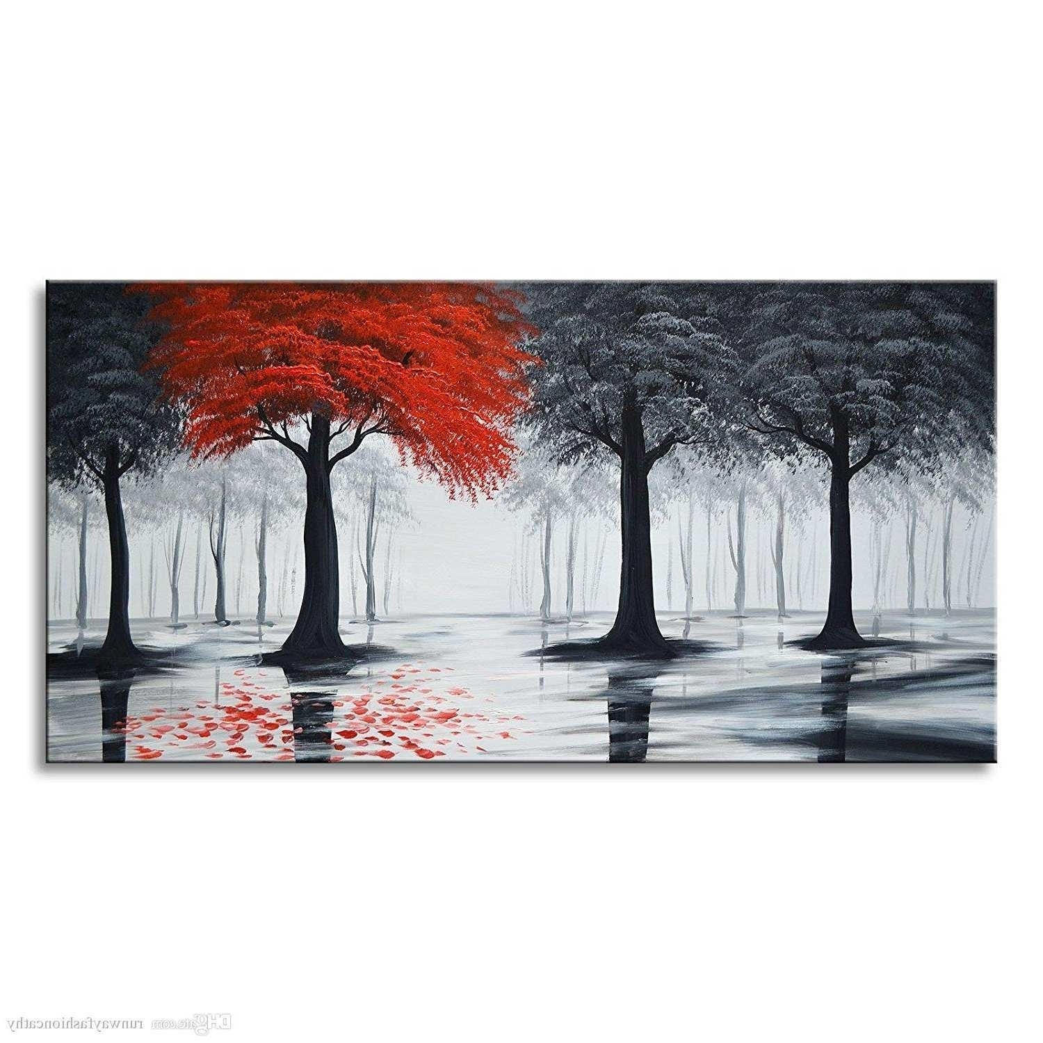 Red Canvas Painting Elegant Best 15 Of Red Canvas Wall Art intended for Red Canvas Wall Art (Image 18 of 20)