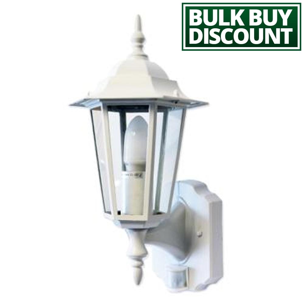 Regent - White Pir Lantern - Outdoor Motion Sensor Wall Light - Lumena with Outdoor Pir Lanterns (Image 17 of 20)
