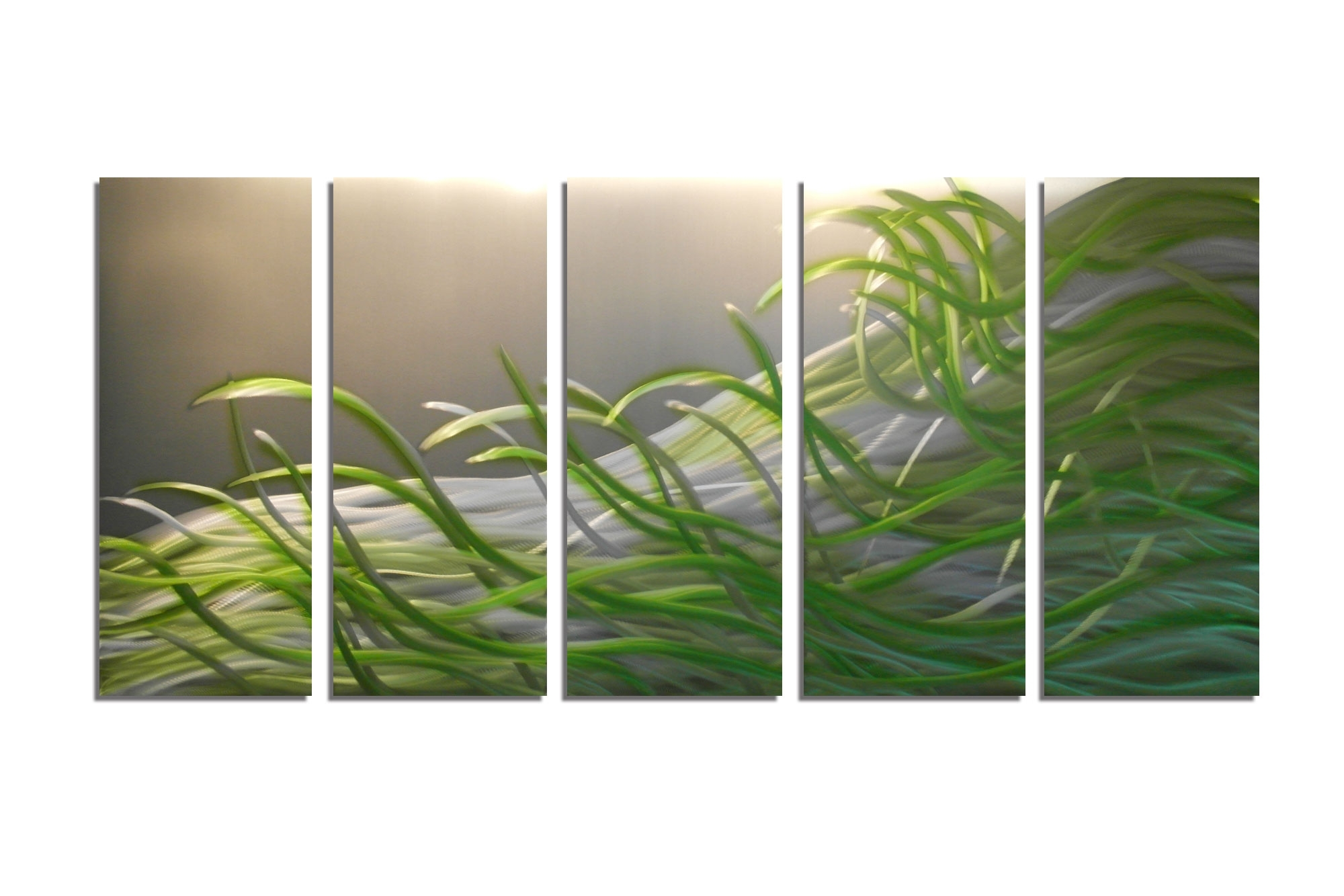 Resonance Green 36X79 - Metal Wall Art Abstract Sculpture Modern intended for Green Wall Art (Image 19 of 20)