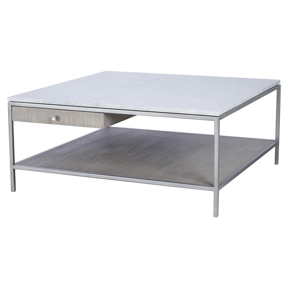Resource Decor Paxton Mid Century Modern Marble Silver Coffee Table inside Mid-Century Modern Marble Coffee Tables (Image 27 of 30)