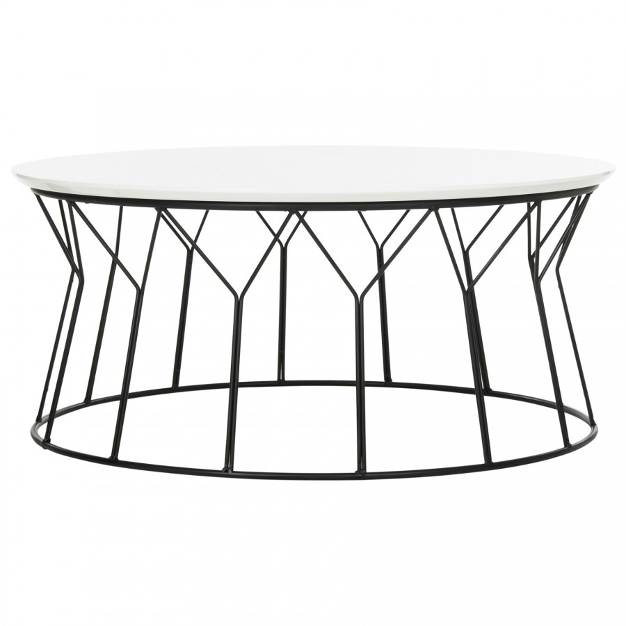 Retro Wire Coffee Table- White Laquer Top ~ Eclectic Goods for Black Wire Coffee Tables (Image 17 of 30)