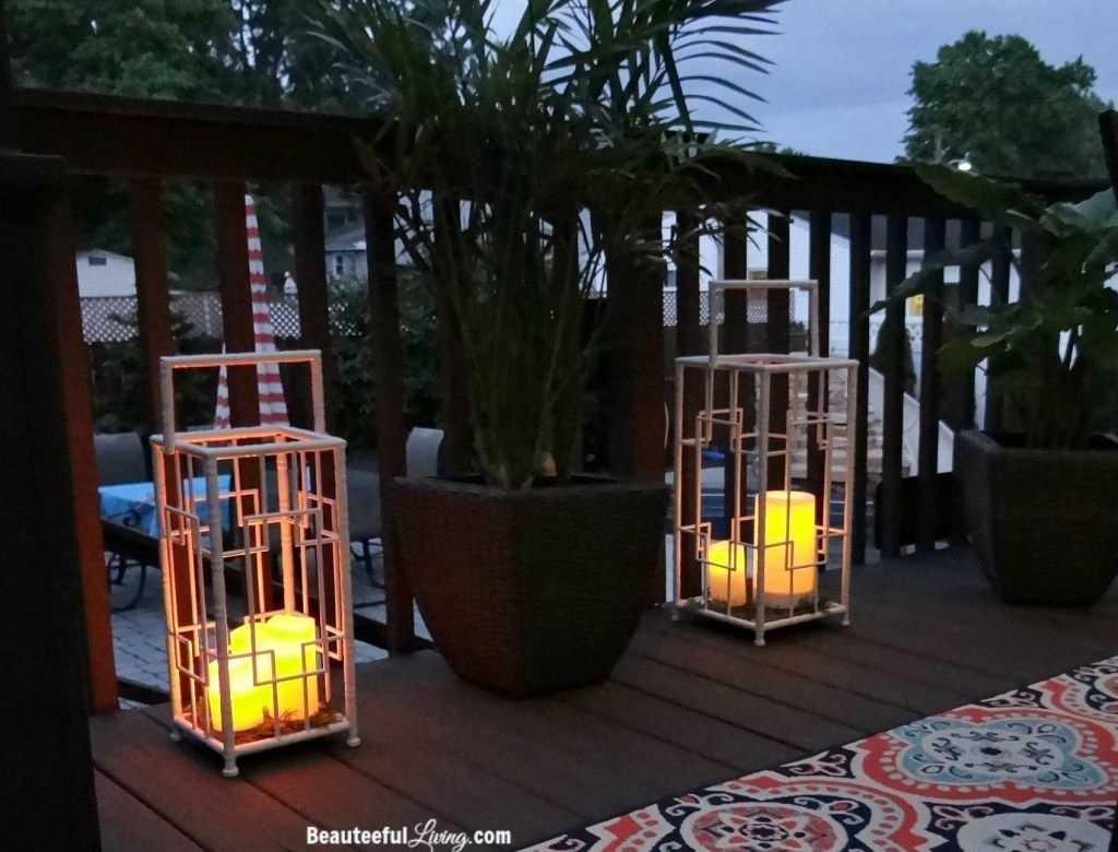 Reveal Of Our Tropical Dining Oasis Makeover – Orc Week 6 | Oasis pertaining to Outdoor Tropical Lanterns (Image 14 of 20)