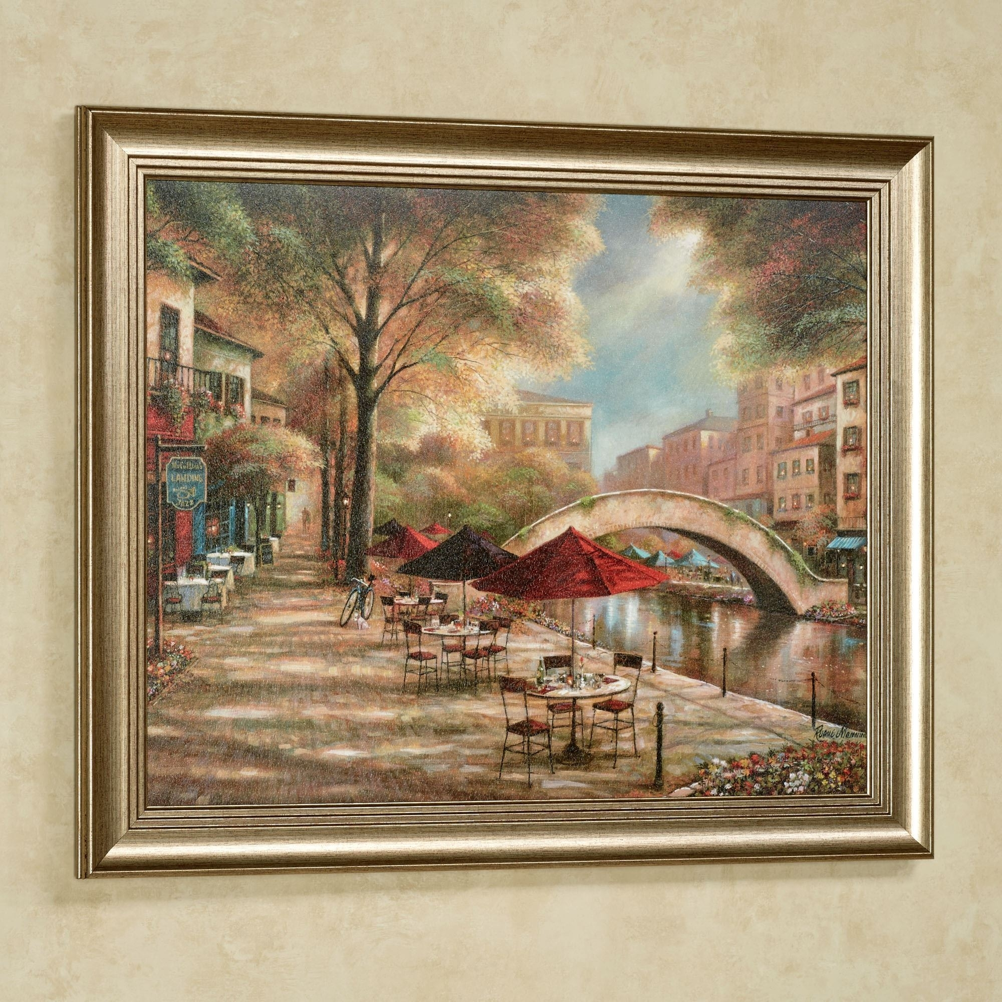 Riverwalk Charm Framed Wall Art Picture inside Cheap Framed Wall Art (Image 15 of 20)