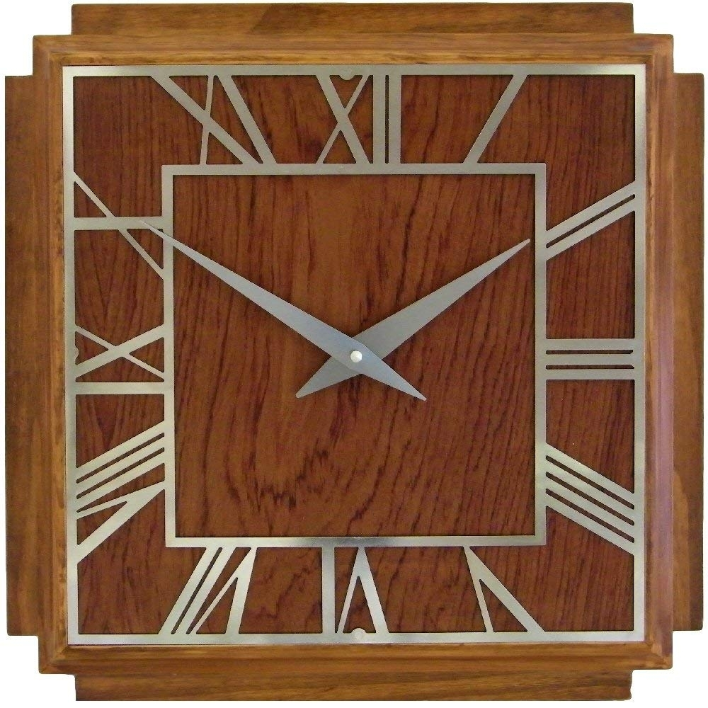 Roger Lascelles, Wooden Deco Wall Clock: Amazon.co (View 14 of 20)