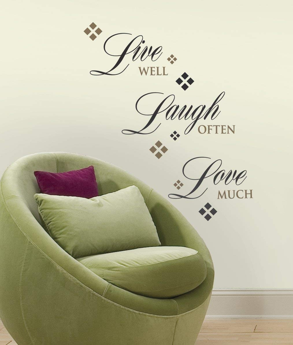 Roommates Rmk1396Scs Live, Love, Laugh Peel & Stick Wall Decals, 22 Intended For Stick On Wall Art (View 13 of 20)