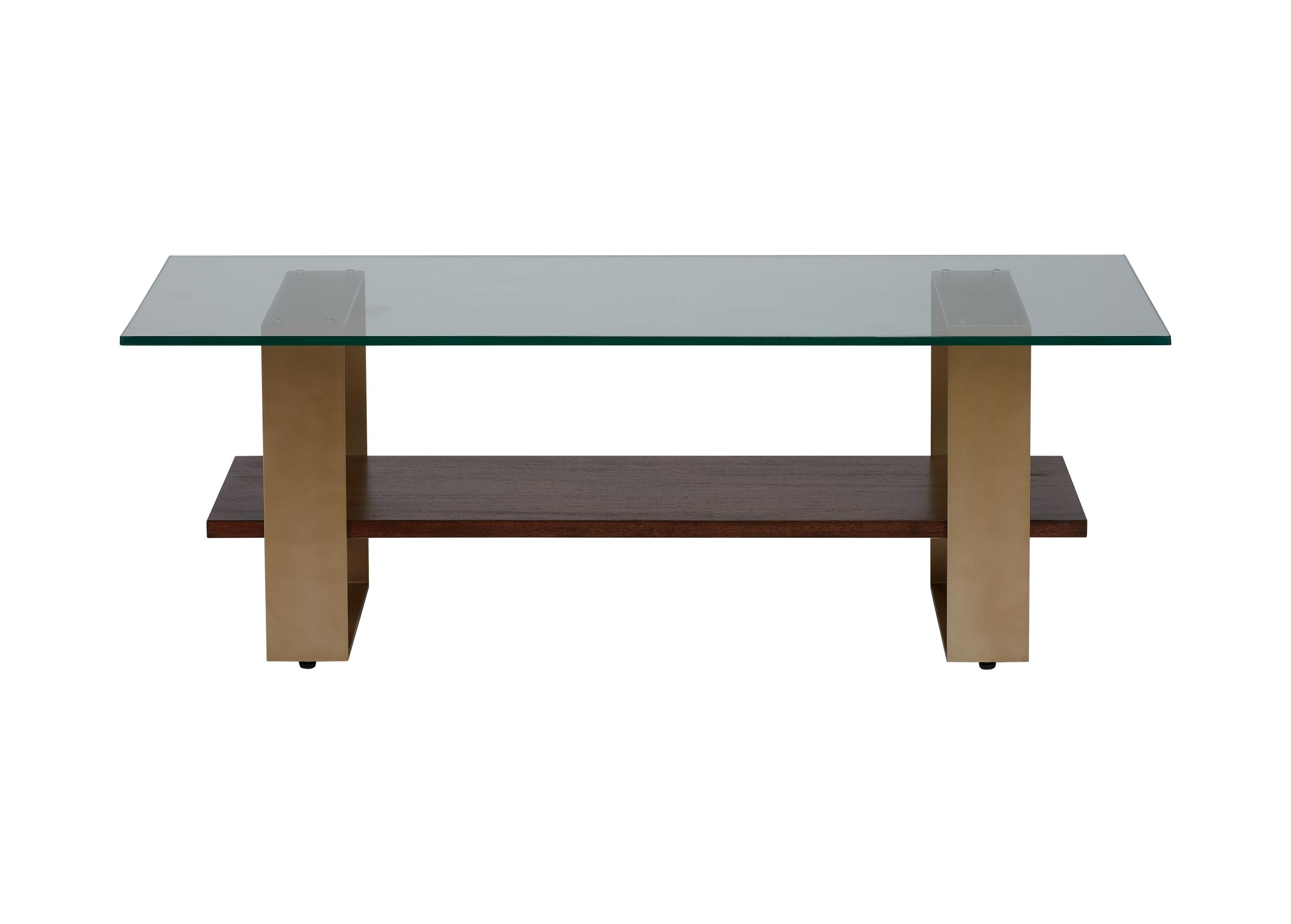 Rosemoor Glass-Top Rectangular Coffee Table | Ethan Allen | Ethan Allen inside Rectangular Brass Finish and Glass Coffee Tables (Image 21 of 30)