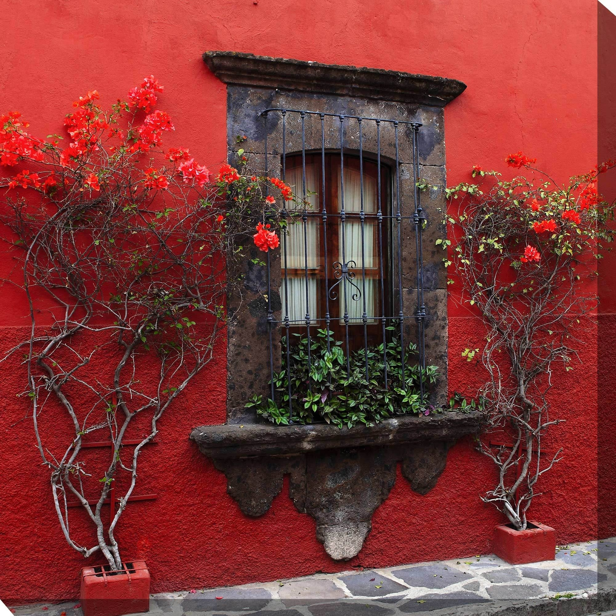 Roses In Red Outdoor Wall Art Piecewest Of The Wind | 73405-24 with Outdoor Wall Art (Image 18 of 20)