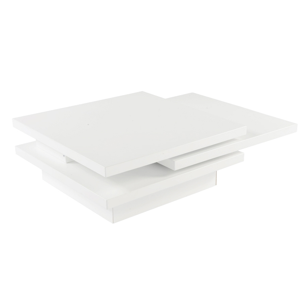 Rotate Square Coffee Table White - Dwell in Spin Rotating Coffee Tables (Image 18 of 30)