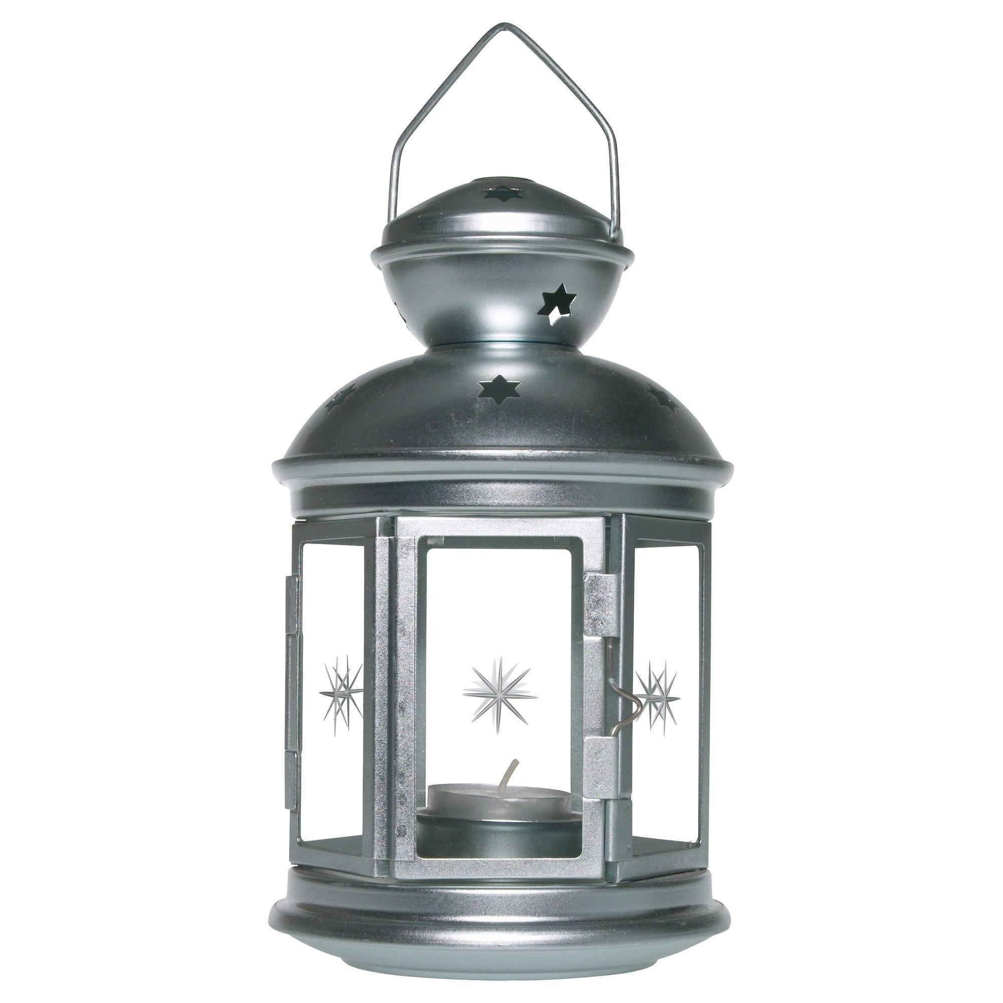 Rotera Lantern For Tealight, Galvanized Indoor/outdoor Galvanized in Ikea Outdoor Lanterns (Image 19 of 20)