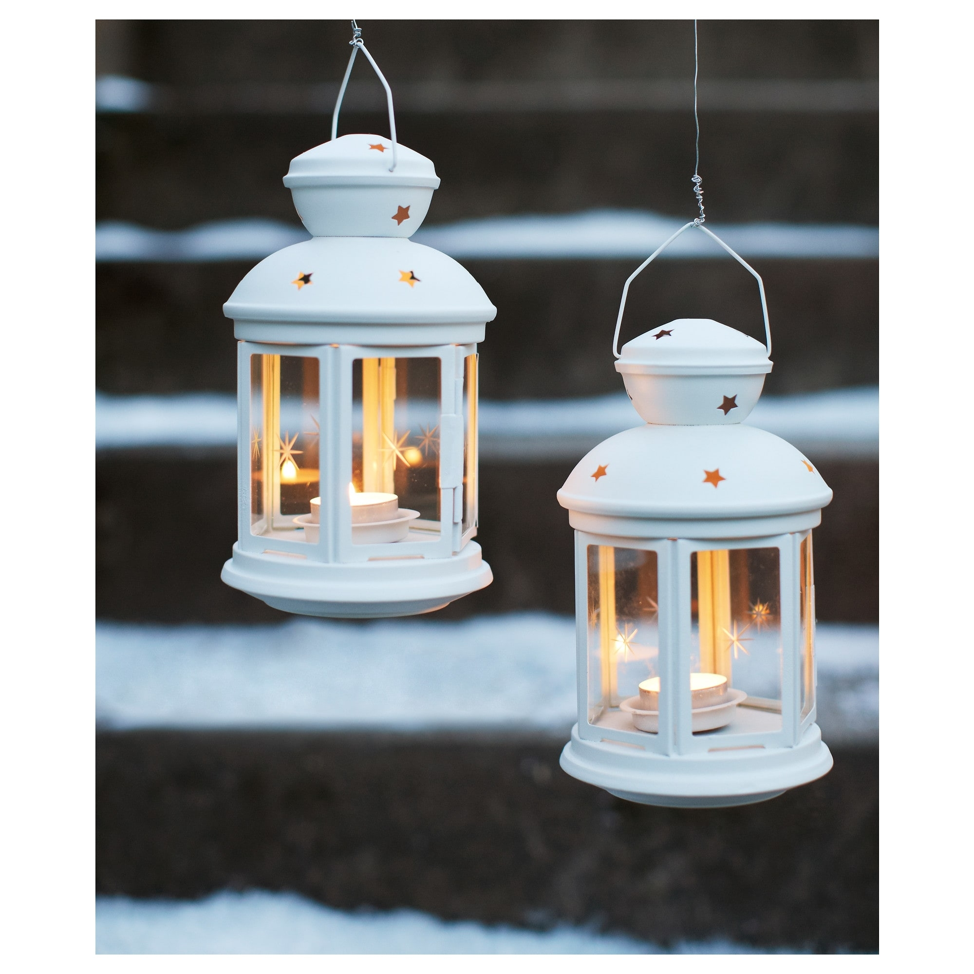 Rotera Lantern For Tealight In/outdoor White 21 Cm - Ikea pertaining to Outdoor Tea Light Lanterns (Image 14 of 20)