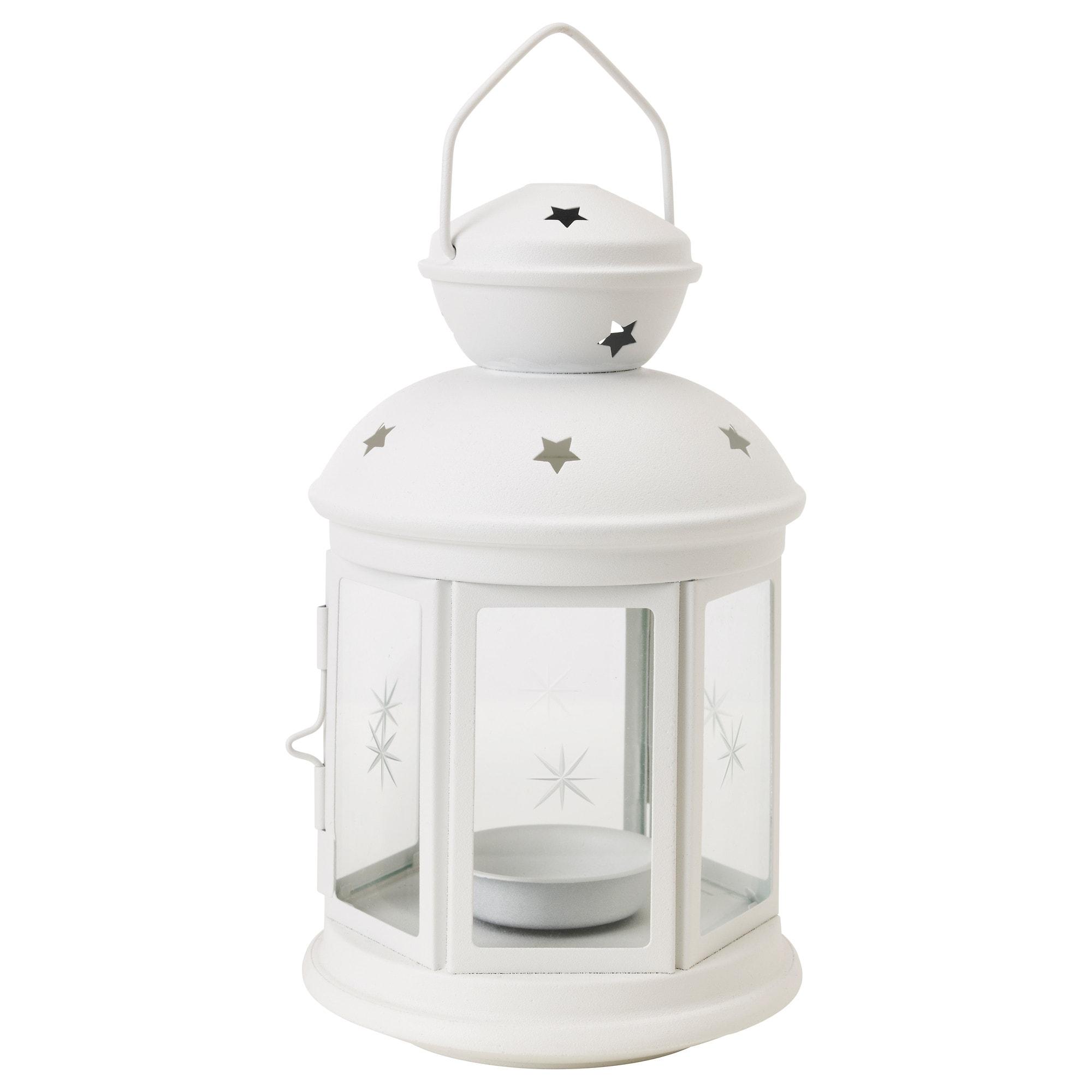 Rotera Lantern For Tealight In/outdoor White 21 Cm - Ikea regarding Outdoor Grey Lanterns (Image 14 of 20)