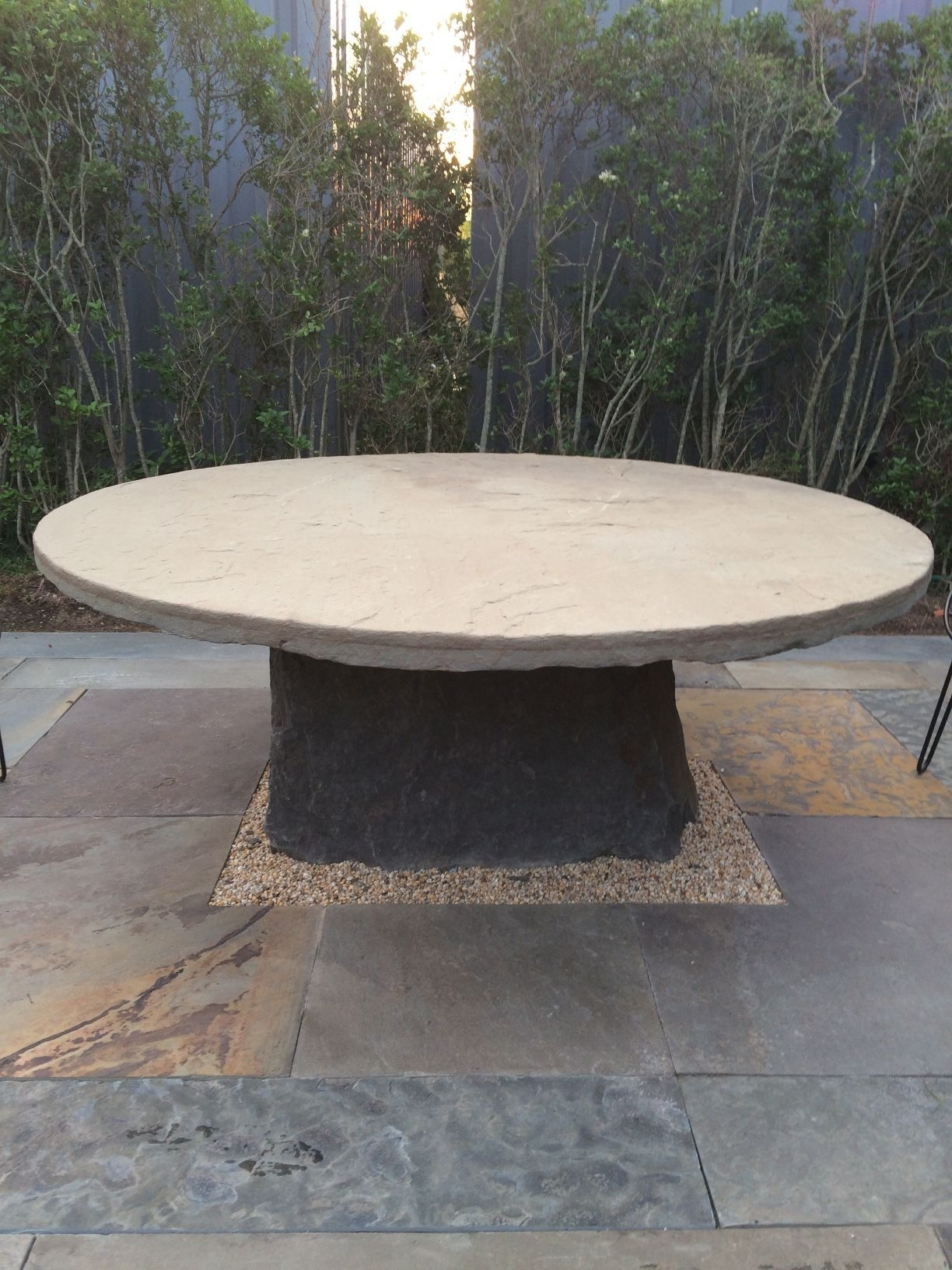 Round Bluestone Dining Table | Outdoor Patio Ideas | Pinterest regarding Casbah Coffee-Side Tables (Image 27 of 30)