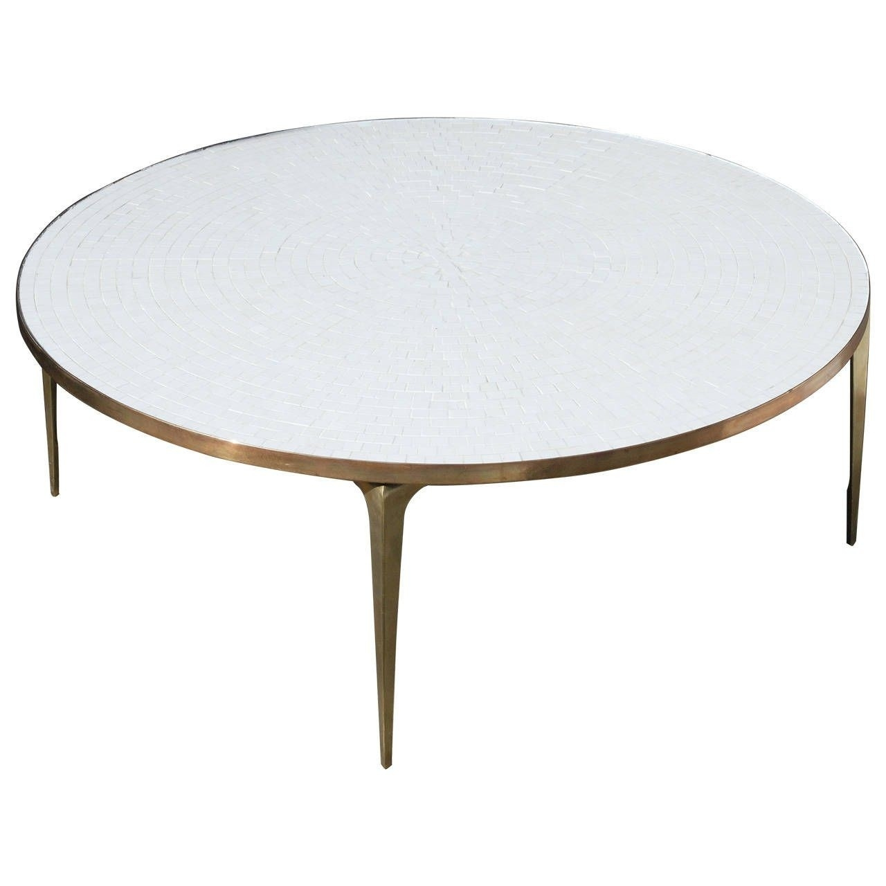 Round Brass Coffee Tables Table Side Geometric Antique Base For Inside Smart Round Marble Brass Coffee Tables (View 25 of 30)