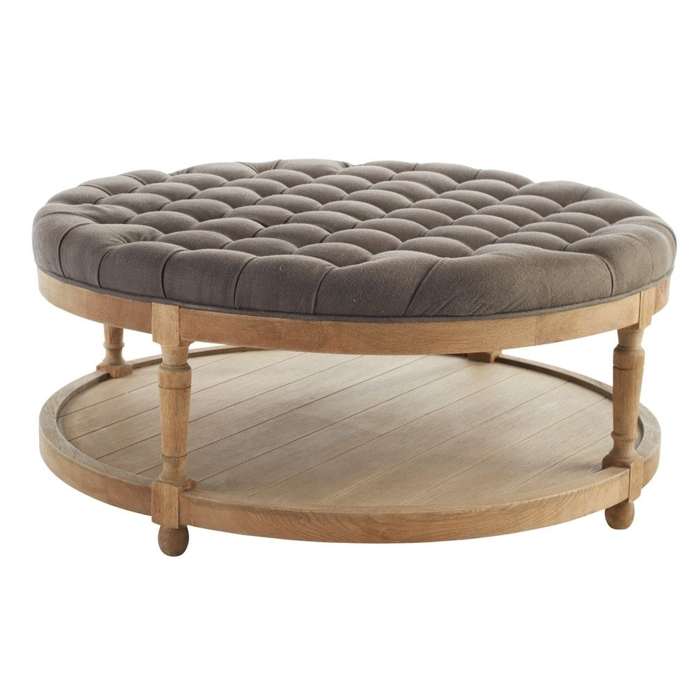 Round Button Tufted Coffee Table | Rounding, Coffee And Chesterfield with Round Button Tufted Coffee Tables (Image 20 of 30)